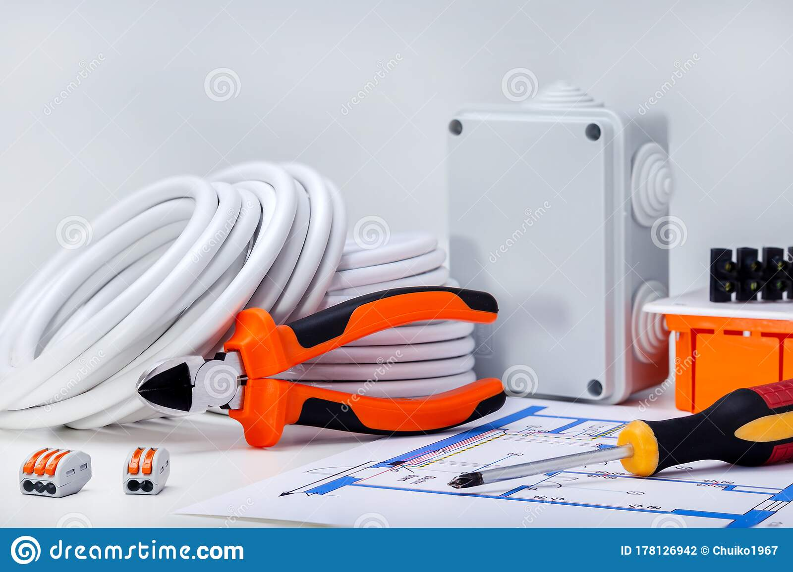 Electrical Equipment And Tools Stock Photo Image Of Electrical Switch 178126942
