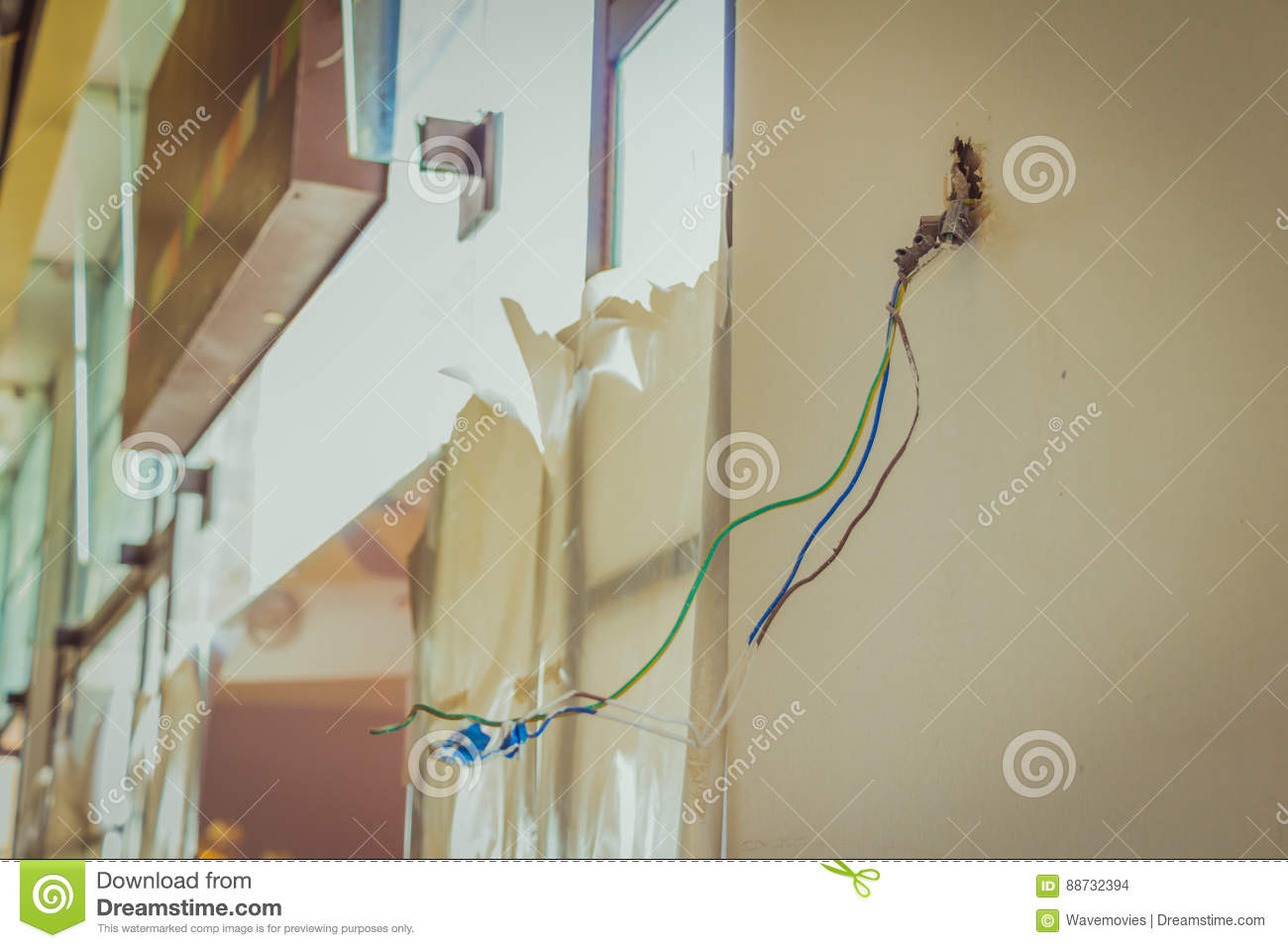 Brilliant Electrical Exposed Wires Protruding From Socket On Newly Tiles C Wiring Digital Resources Operpmognl