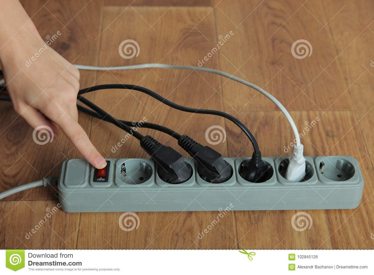 Electrical Extension Cord Stock Photo Image Of Energized 102845126 Wiring To Switch Download