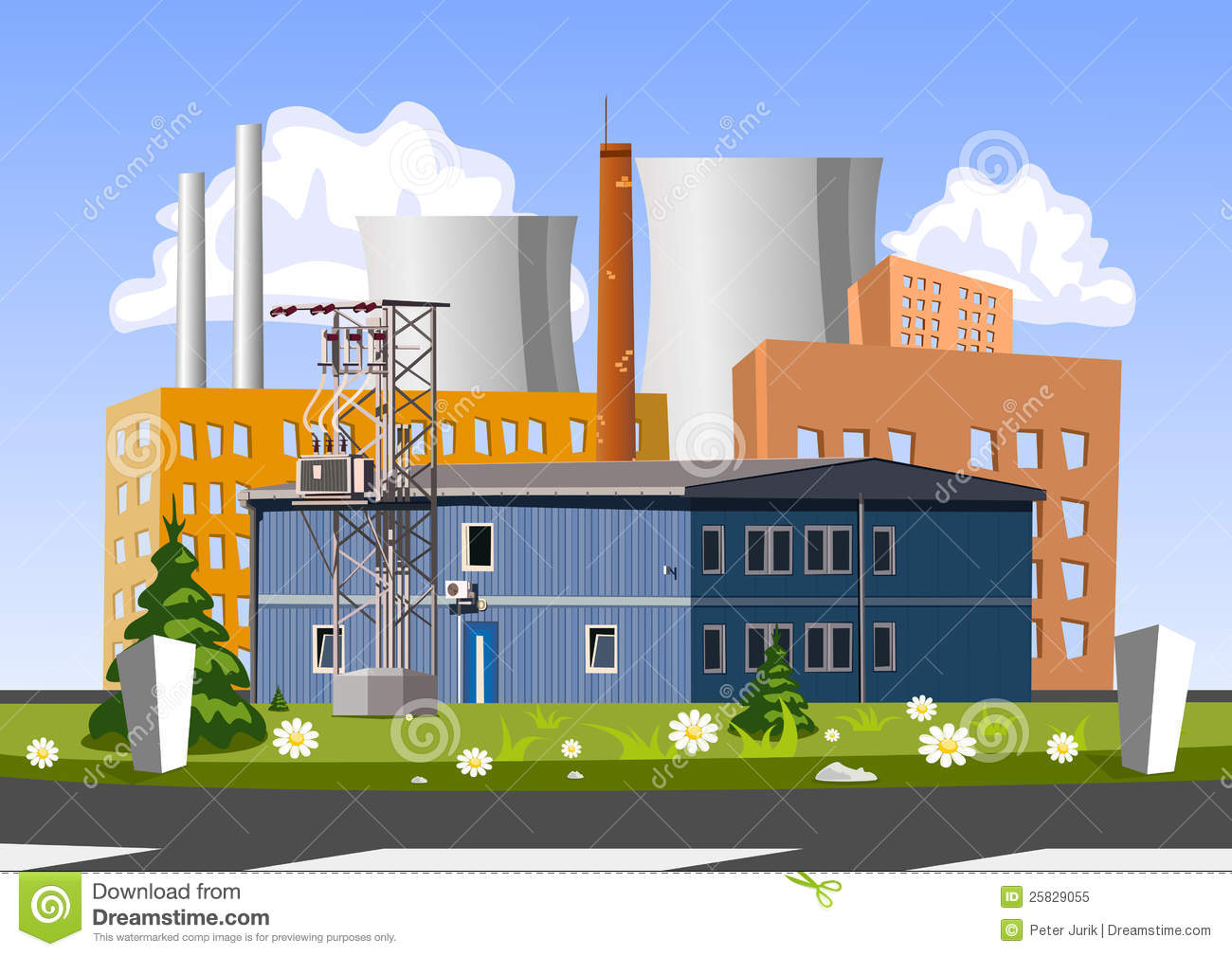 Electrical Generating Plant Royalty Free Stock Photo ...
