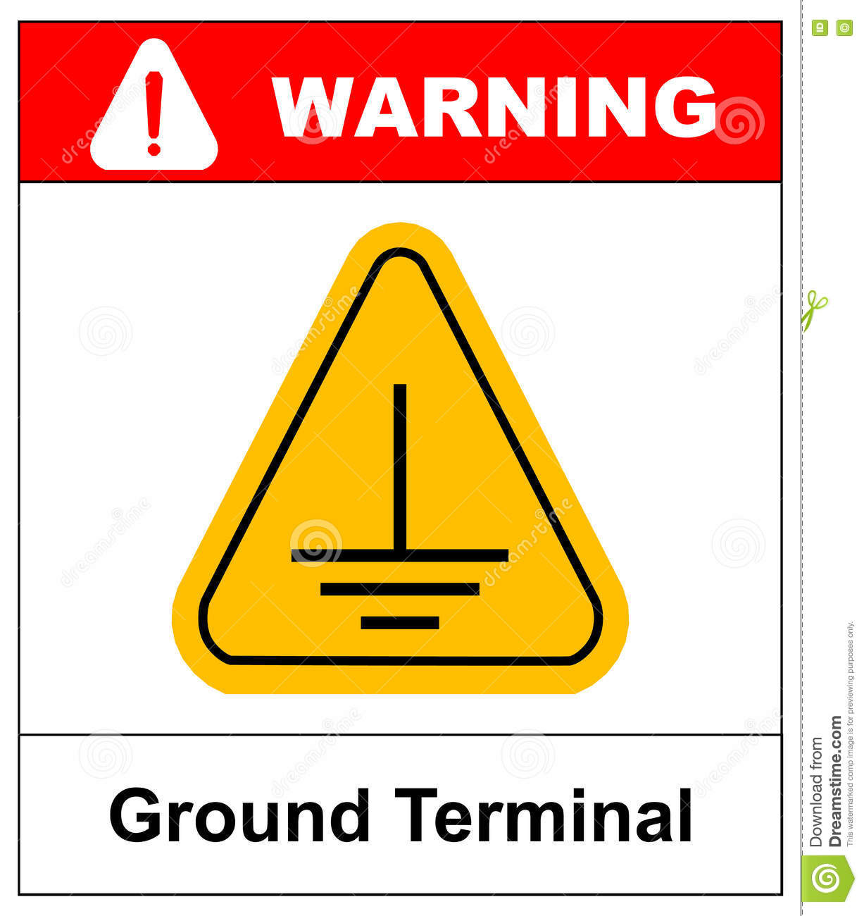 Electrical Grounding Sign Stock Vector Illustration Of Danger