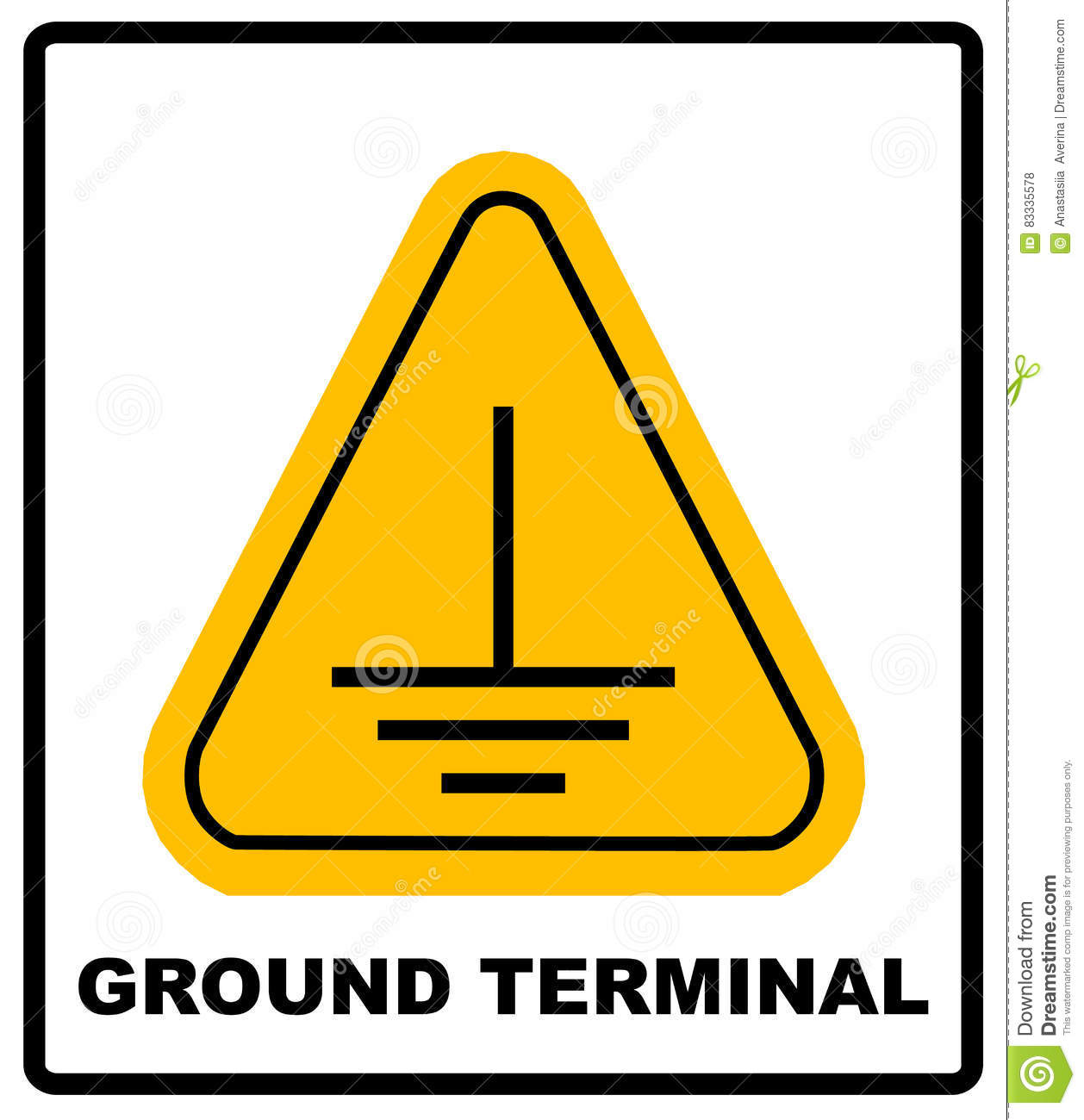 Electrical grounding sign stock vector illustration of electrical grounding sign biocorpaavc