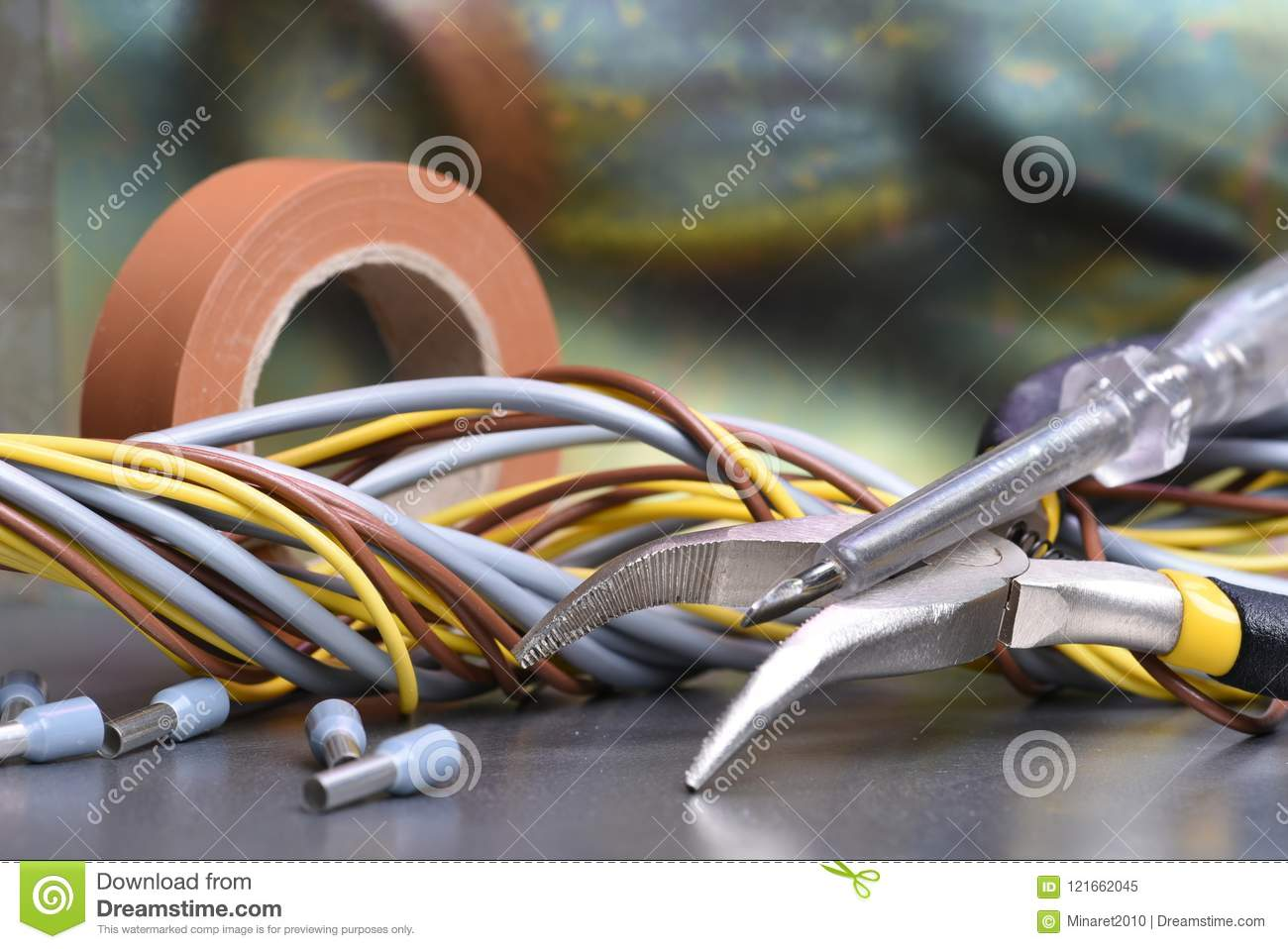 Stupendous Electrical Hand Tools And Accessories Stock Image Image Of Wiring Cloud Hisonuggs Outletorg