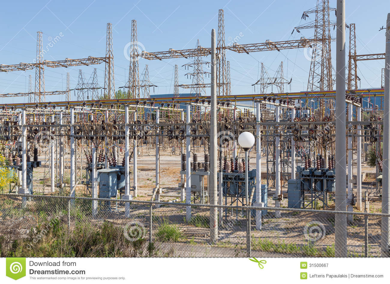 Electrical high voltage substation royalty free stock for Distribution substation