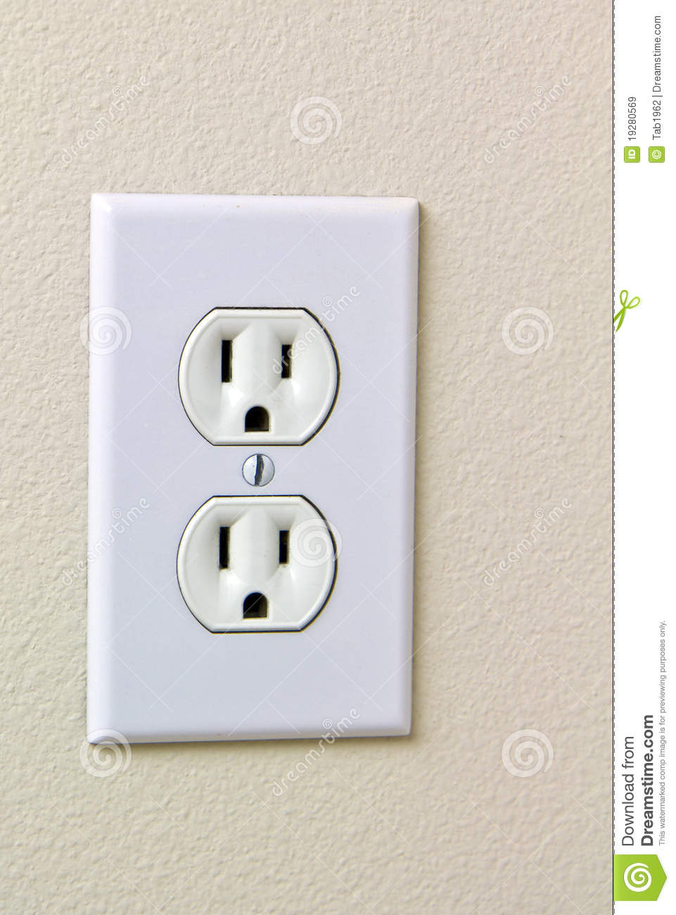 Electrical House Outlet 110 Royalty Free Stock Images