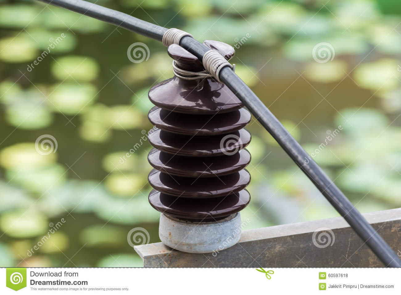 Electrical insulator stock photo  Image of post, danger - 60597618