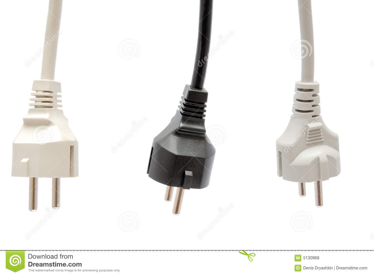 Electrical isolated plug white