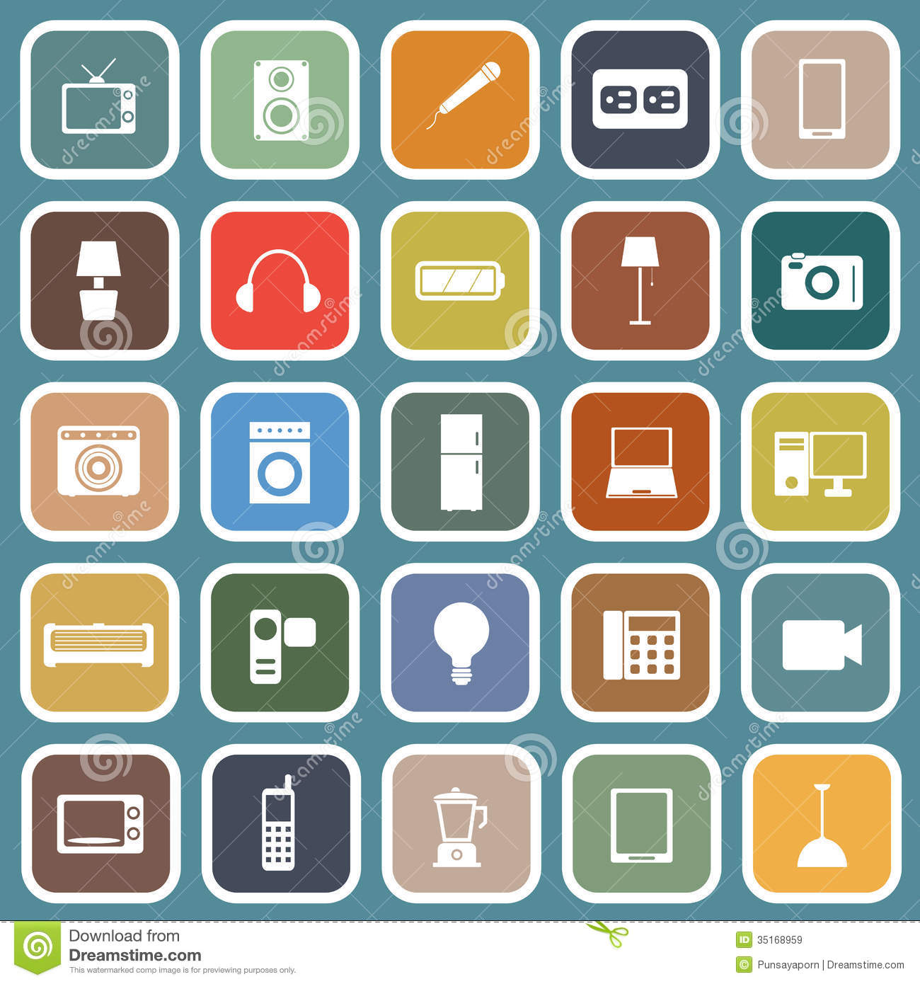 electrical plan icons    electrical    machine flat    icons    on blue background royalty     electrical    machine flat    icons    on blue background royalty