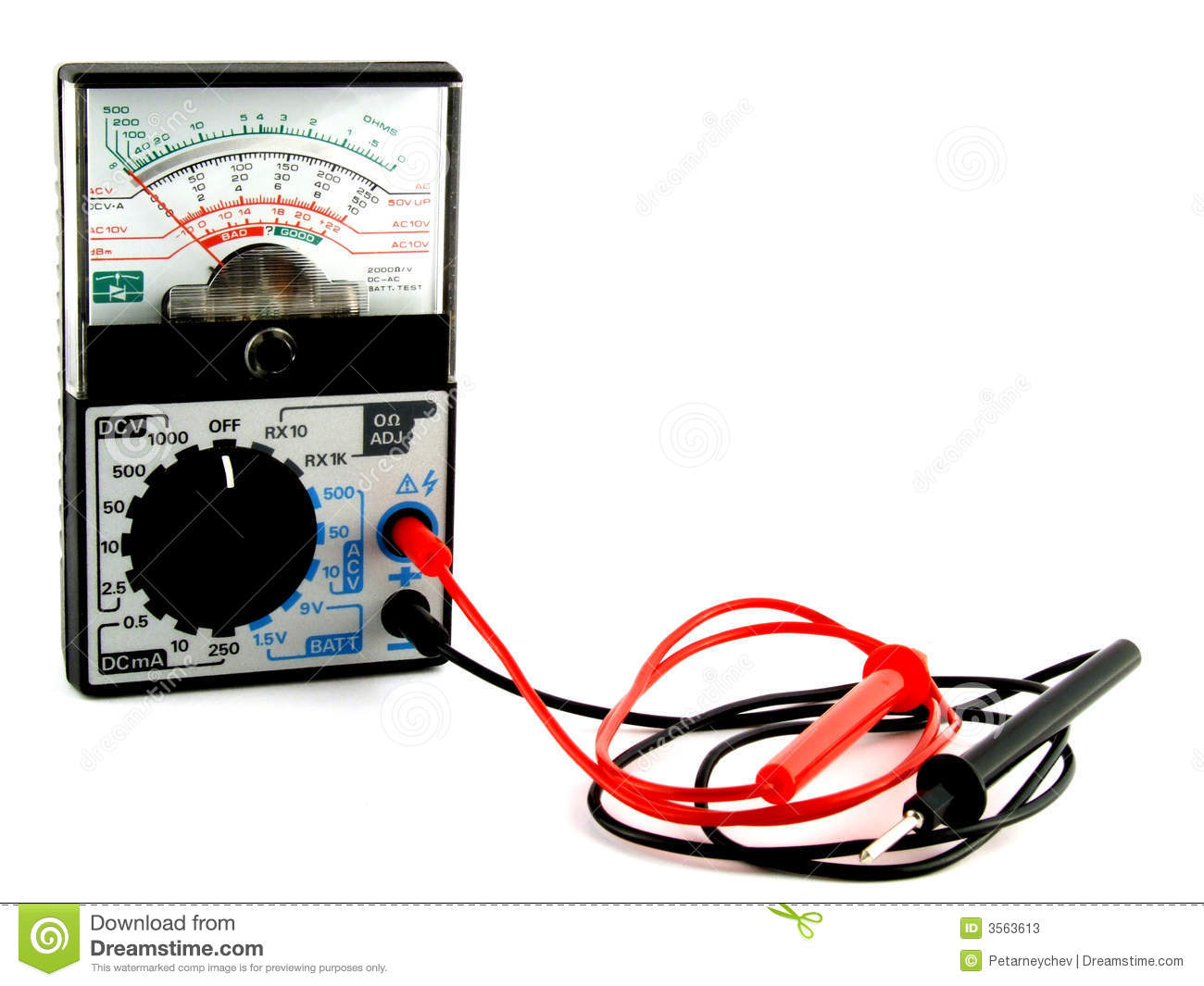 Measuring Electrical Equipments : Electrical measuring equipment stock image of