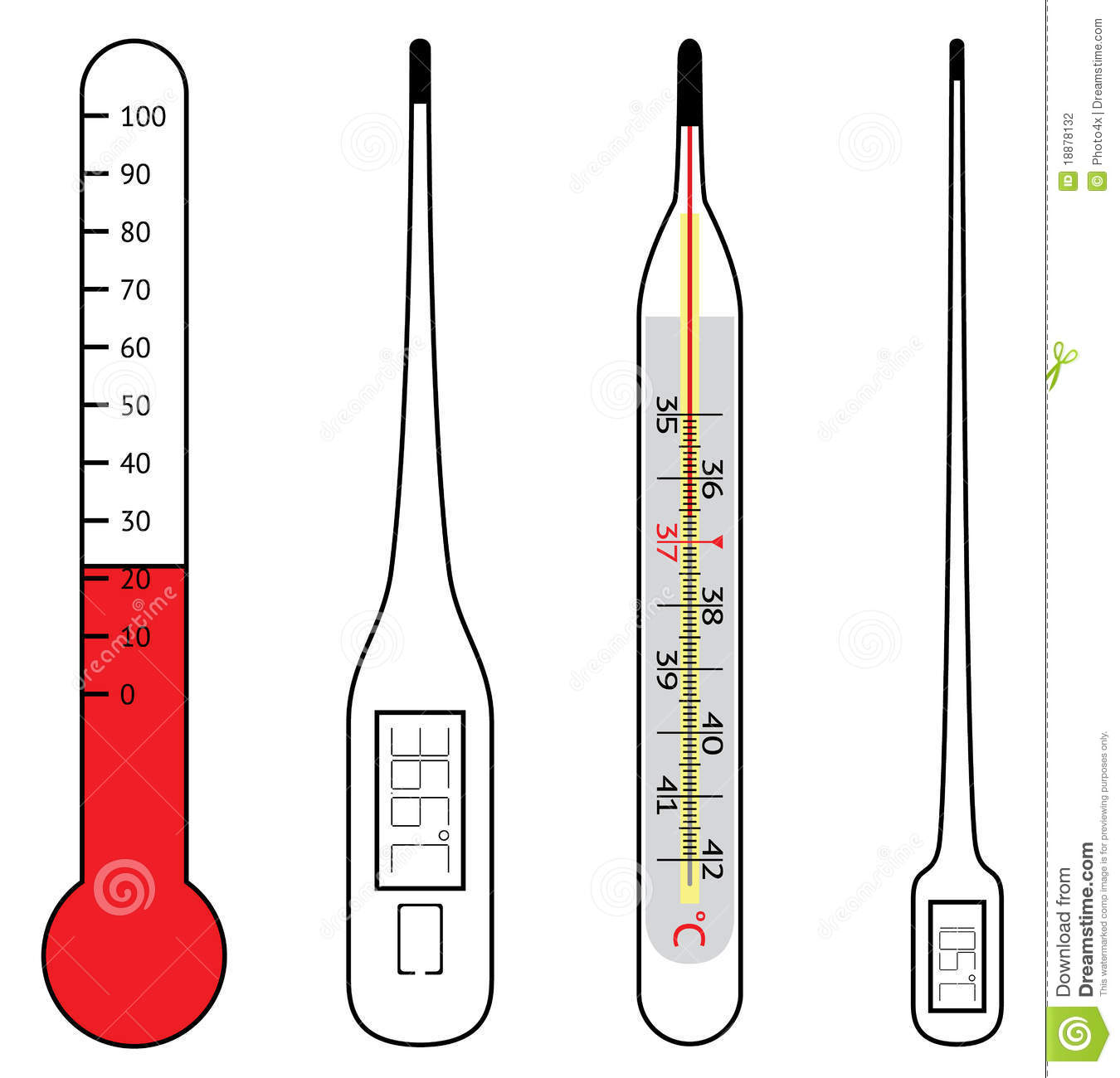 Electrical And Mercury Thermometers Stock Photography - Image ...