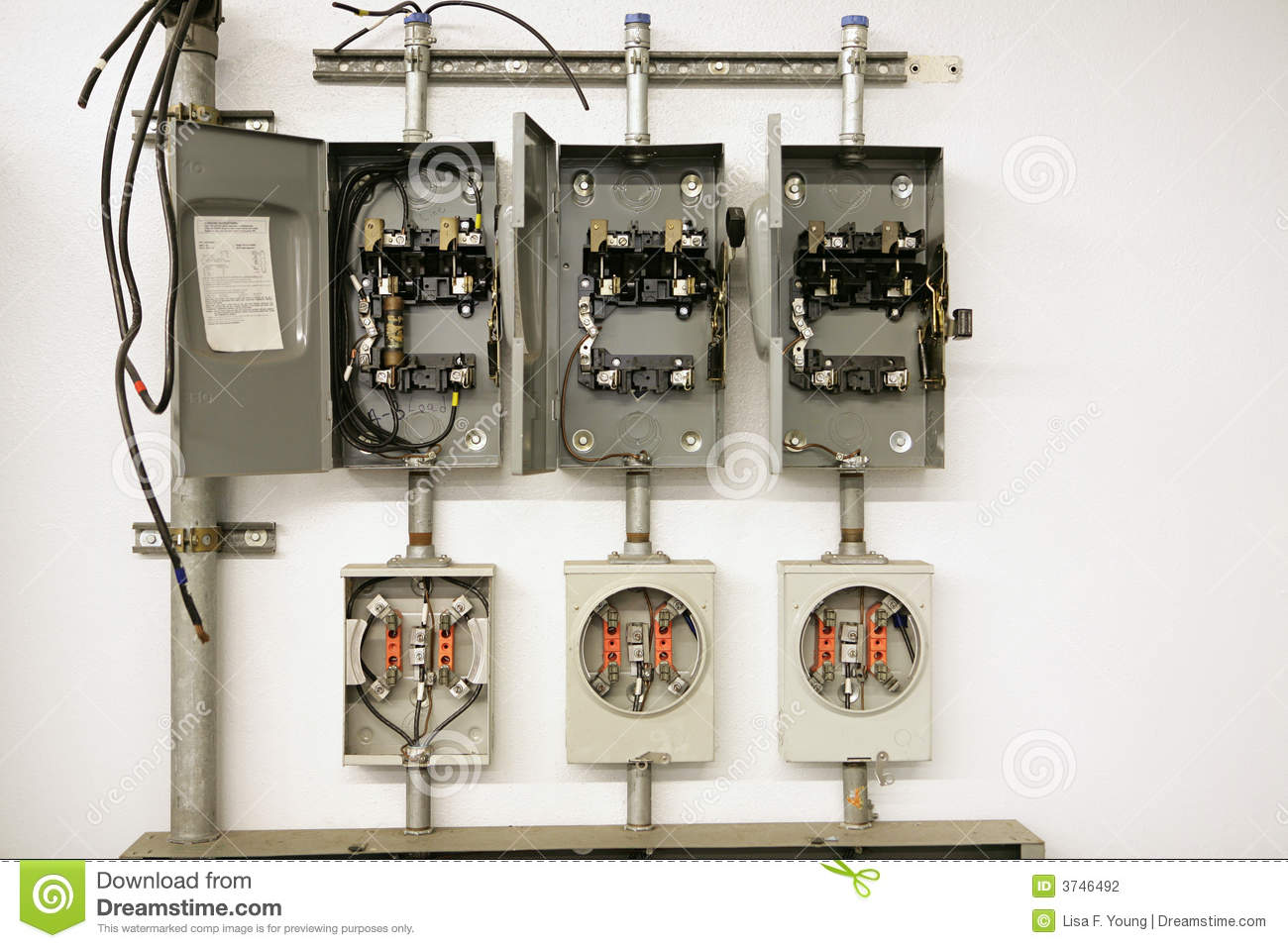 Zinsco Fuse Box Auto Electrical Wiring Diagram Pontiac Fire Meter Center Stock Photography