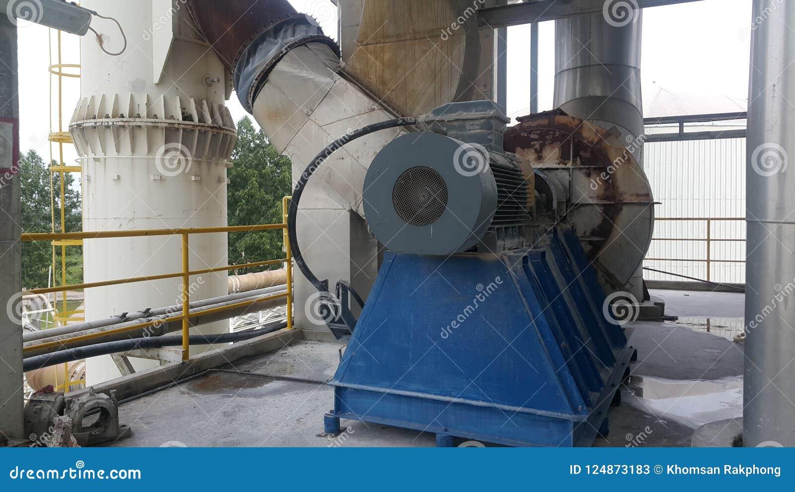 Electrical motor and flue gas fan of Electrostatic Precipitator