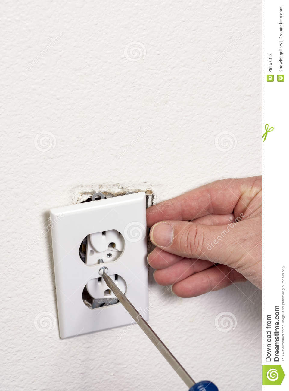 Electrical Out Remove The Face Plate Stock Photo Image Of Plug