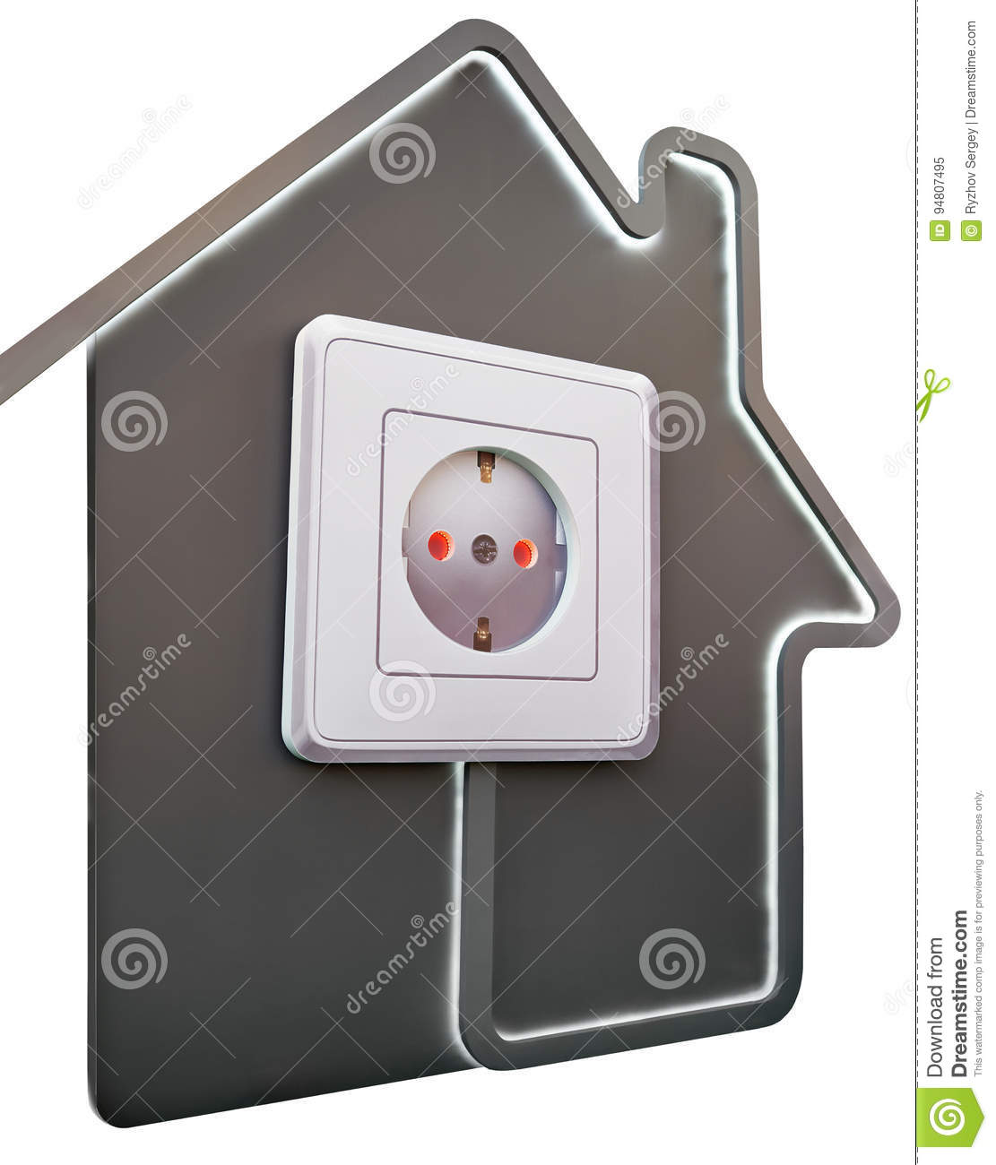 Electrical outlet in house as symbol of comfort stock image electrical outlet in house as symbol of comfort biocorpaavc