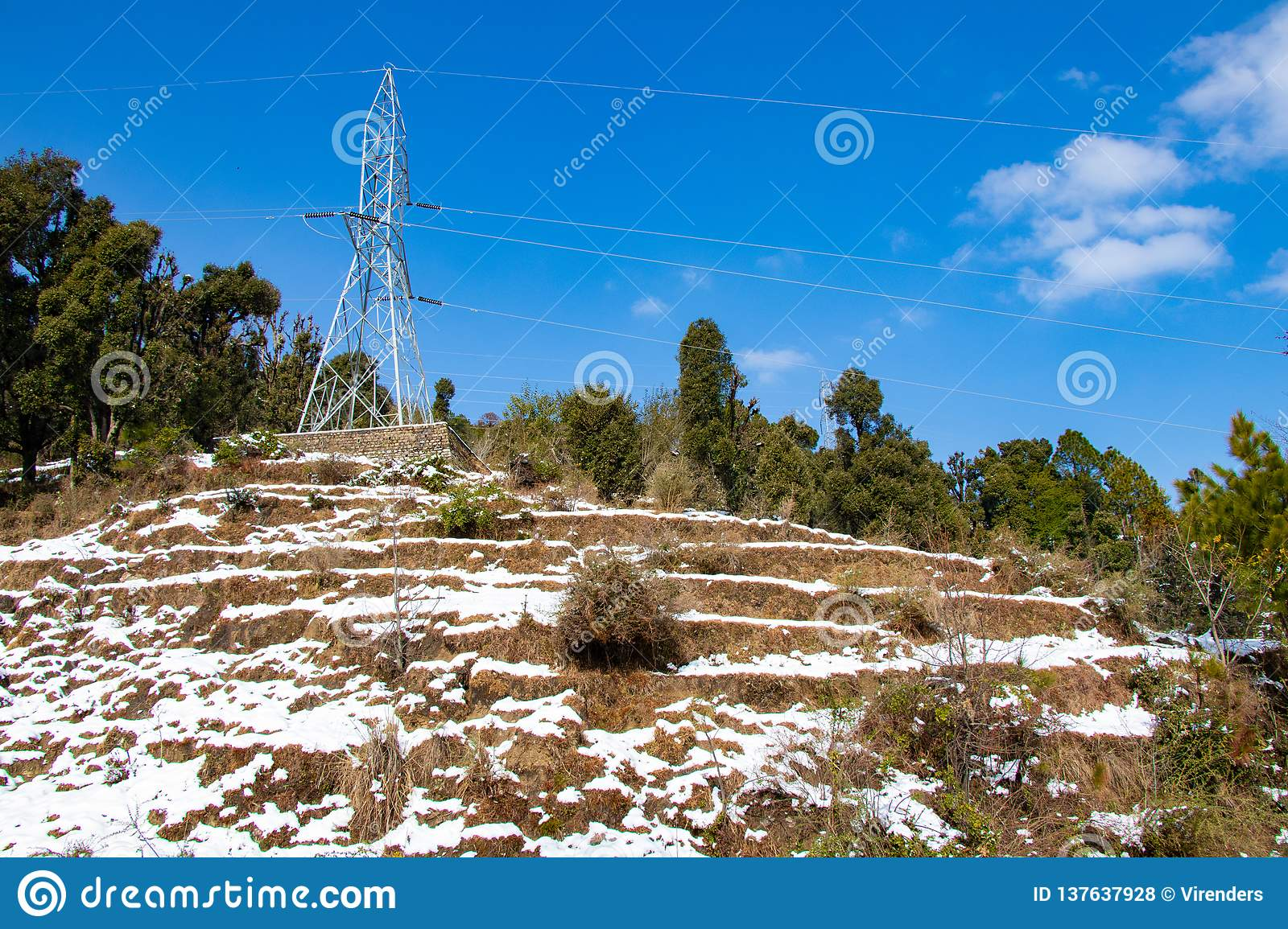 Electrical overhead transmission line