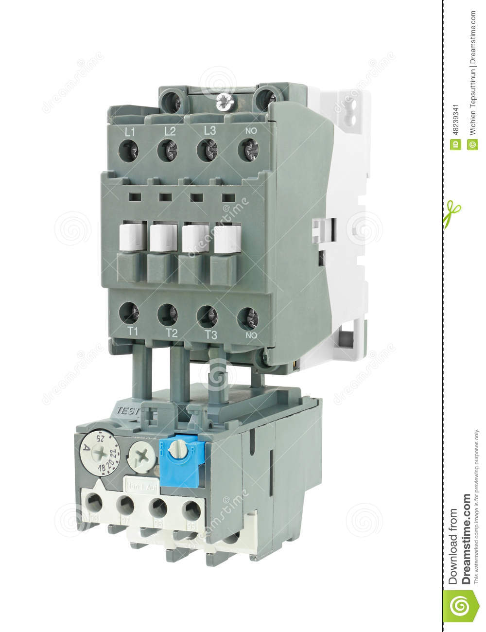 electrical and magnetic contactor isolated on white bac stock photo image 48239341