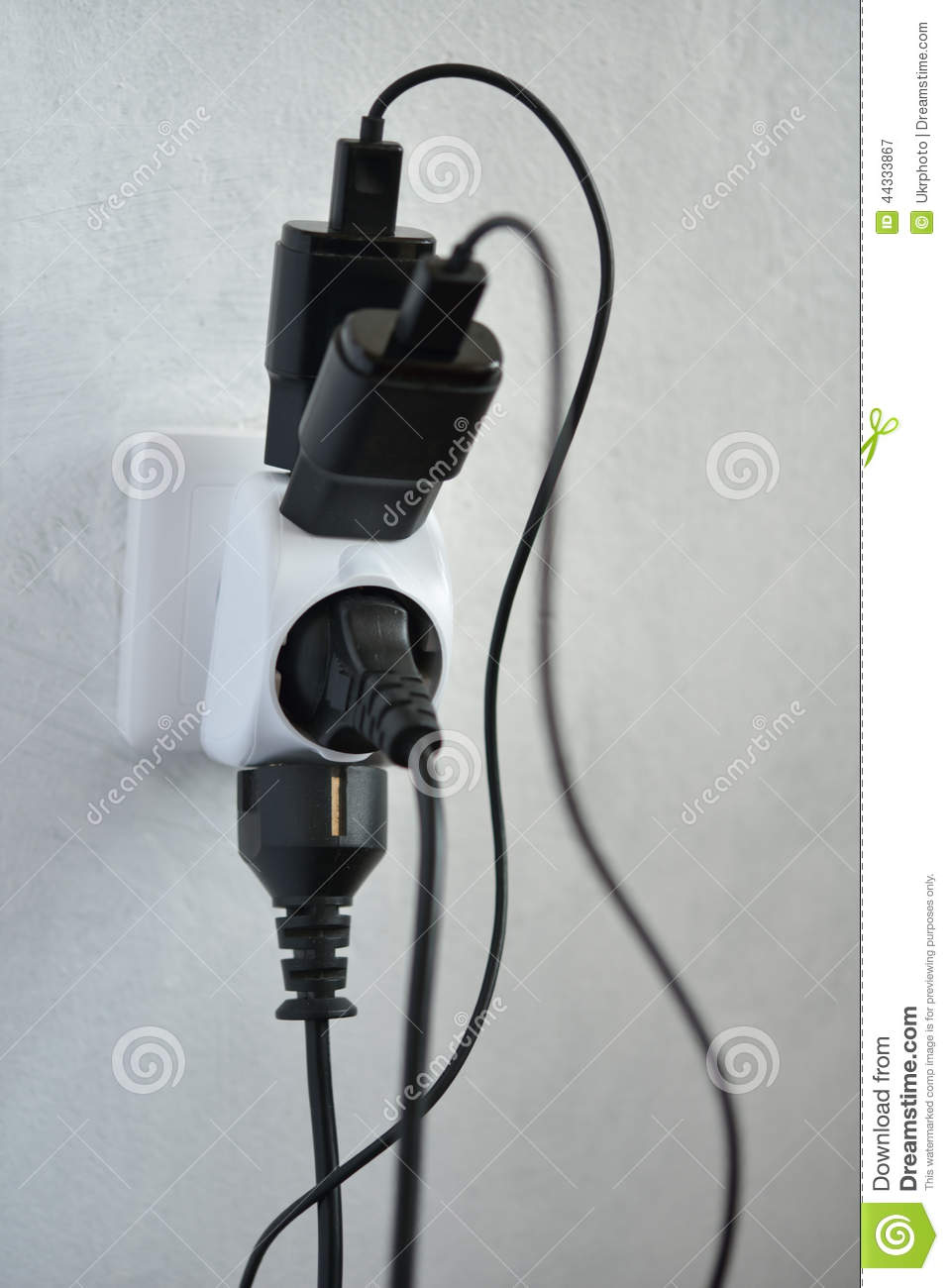 Wiring A Four Plug Outlet Trusted Diagram 4 Electrical Overload Stock Image Of White Indoors 44333867 Gang