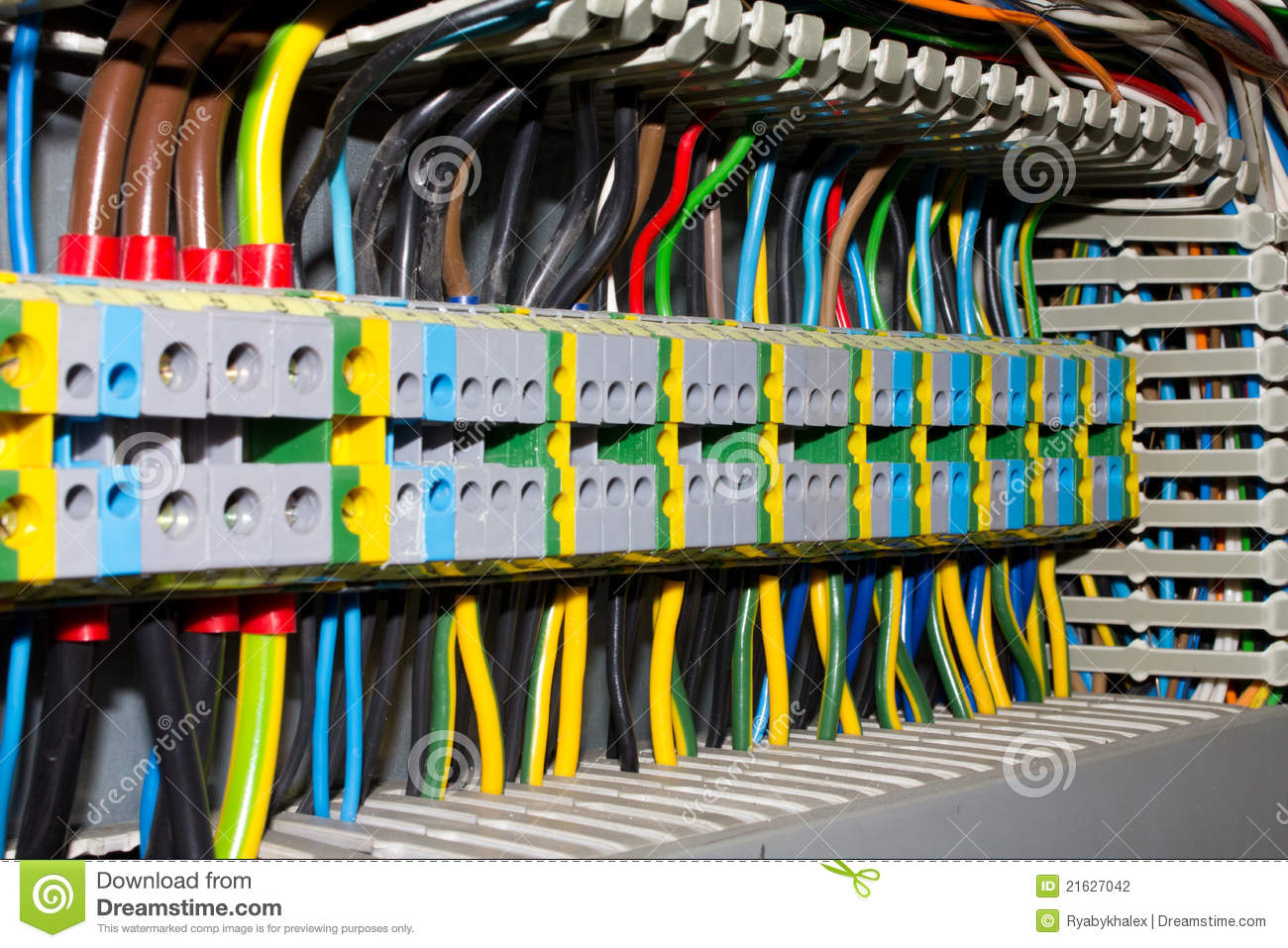 electrical panel stock photo image of breaker circuits electric fuse box