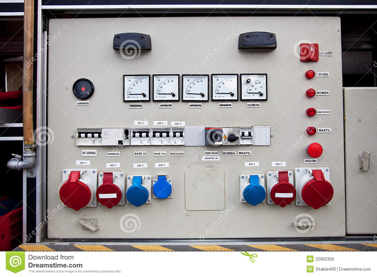Electrical panel stock photo. Image of panels, switches - 22962306