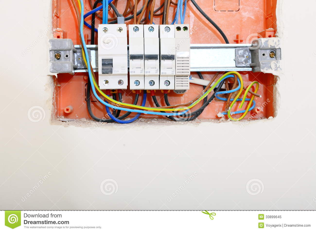 electrical panel box with fuses and contactors stock image. Black Bedroom Furniture Sets. Home Design Ideas