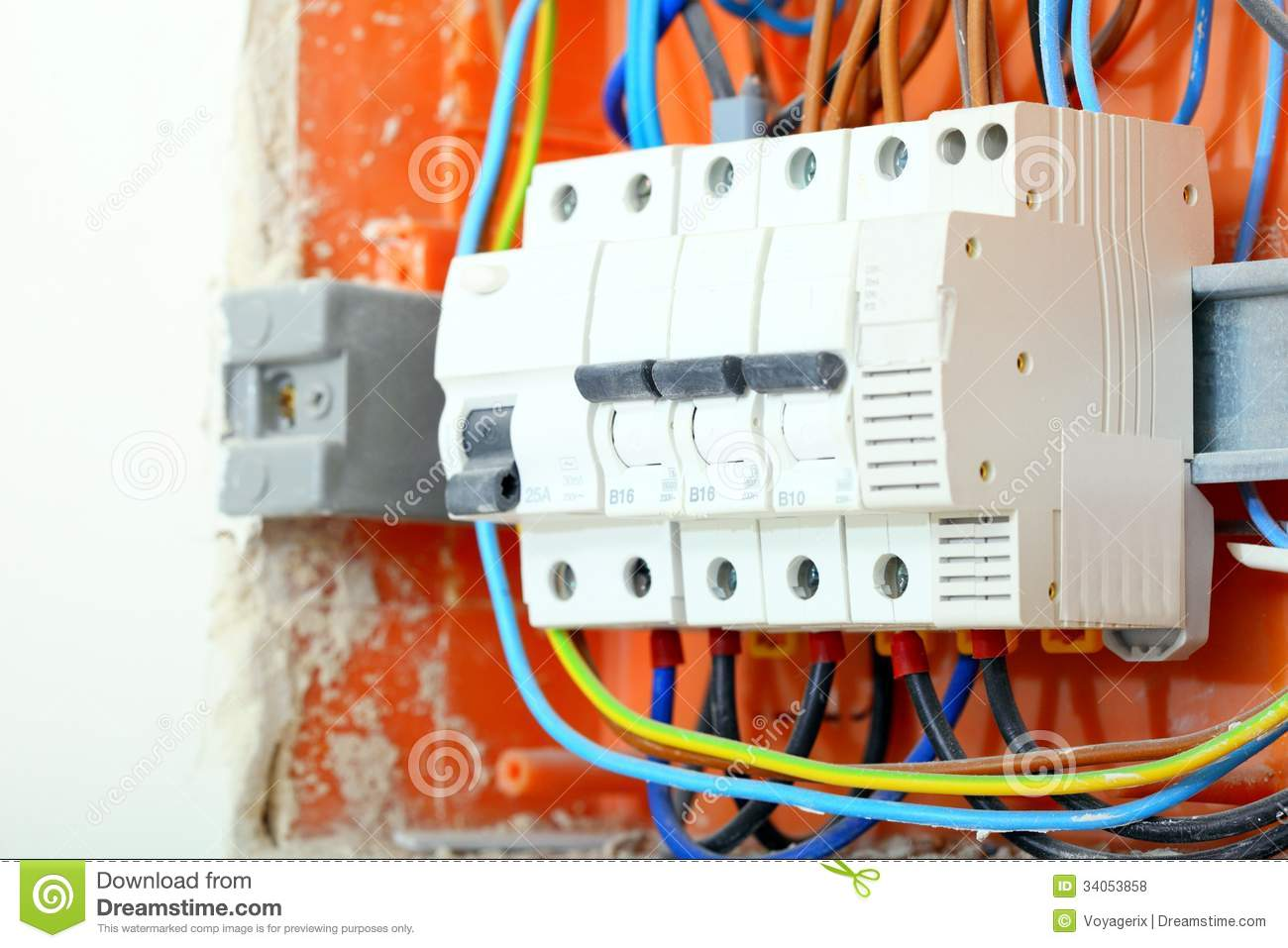 Electrical Panel Box With Fuses And Contactors Stock Photo Image Wiring