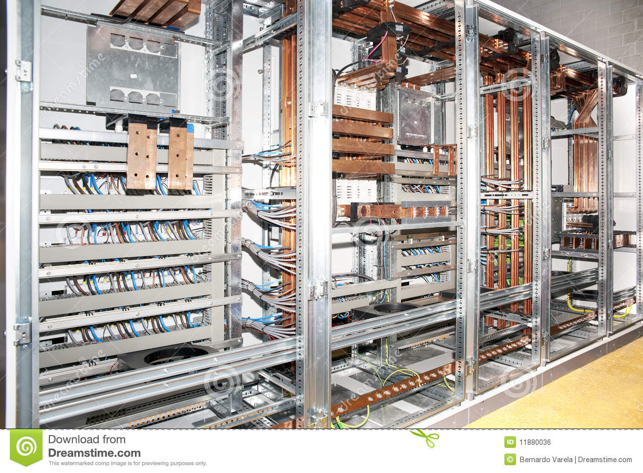 Electrical Panel Construction Stock Photo Image Of