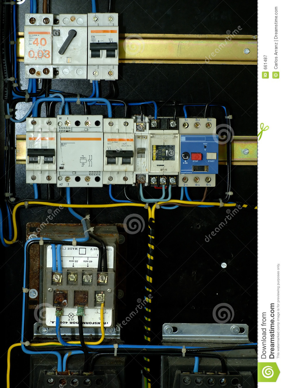 Electrical Panelboard Stock Image Of Tape Rust 661487 Wiring Panel Board