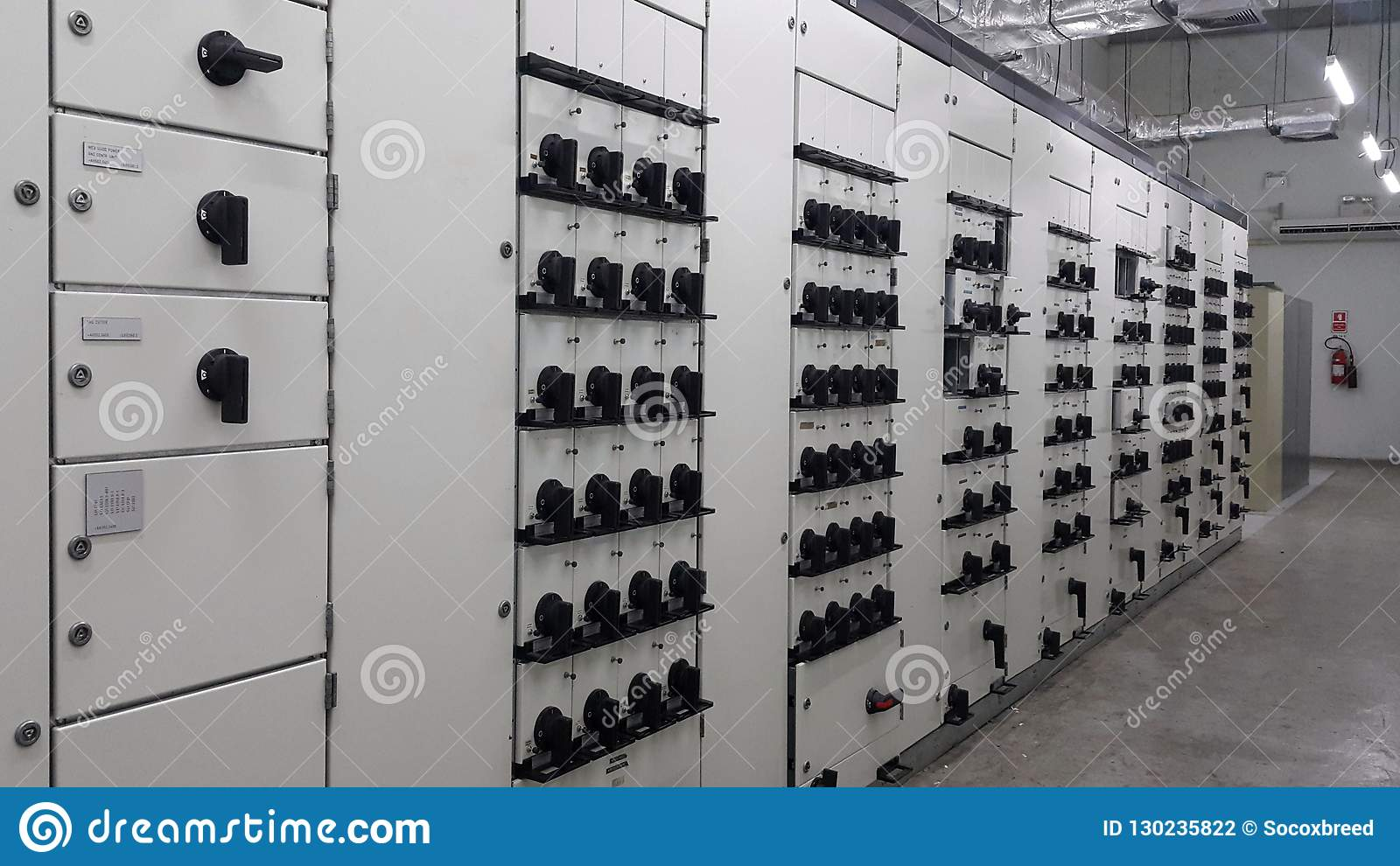 electrical part with accessories in Motor control center room