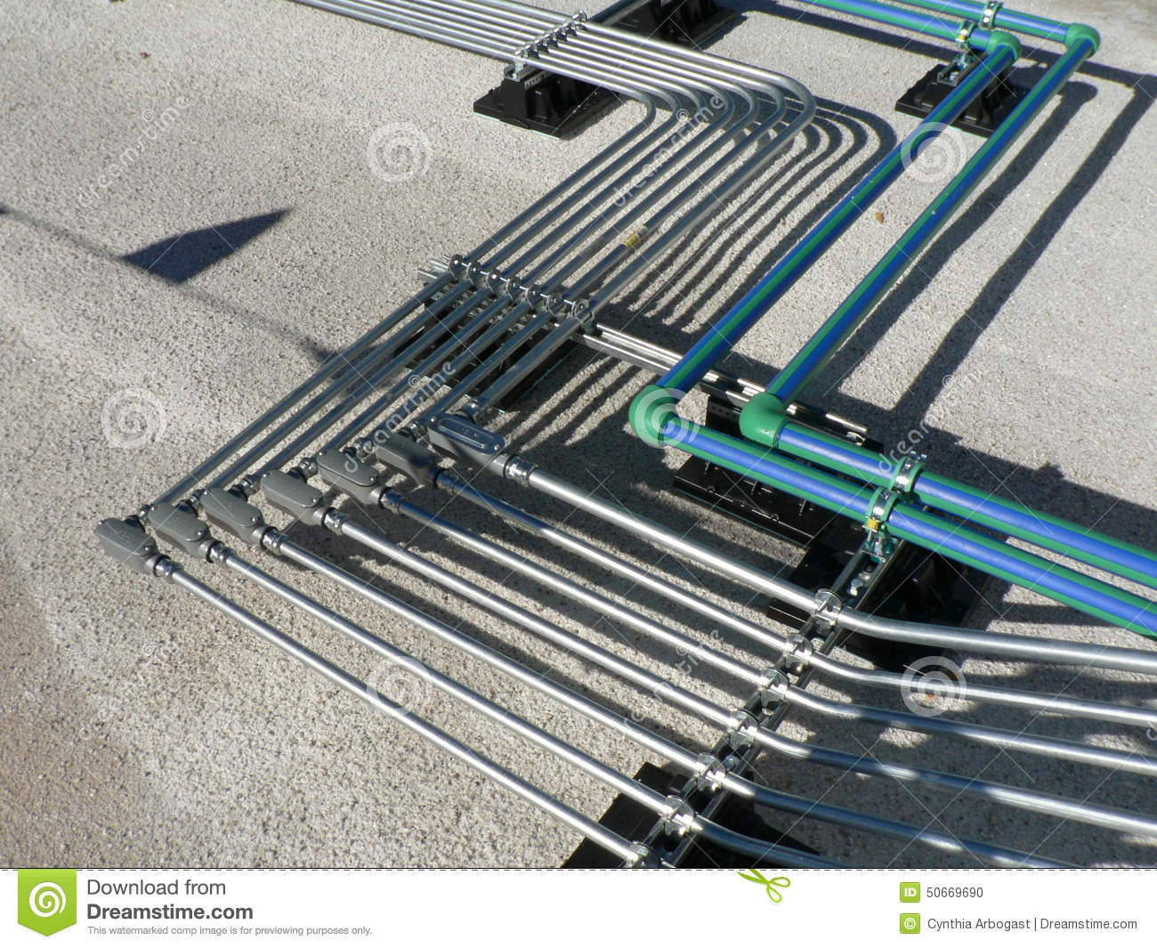Electrical Pipe Rack on Roof