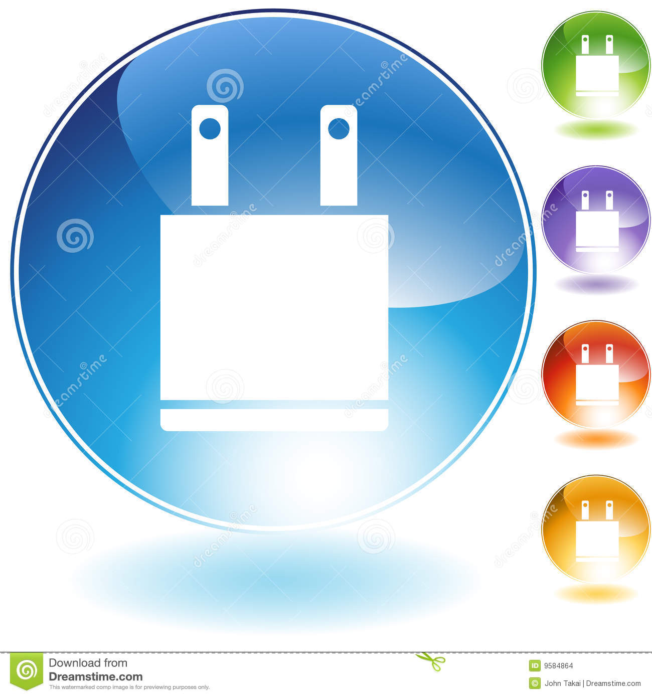 Electrical Plug Icon Stock Vector Illustration Of Clipart 9584864