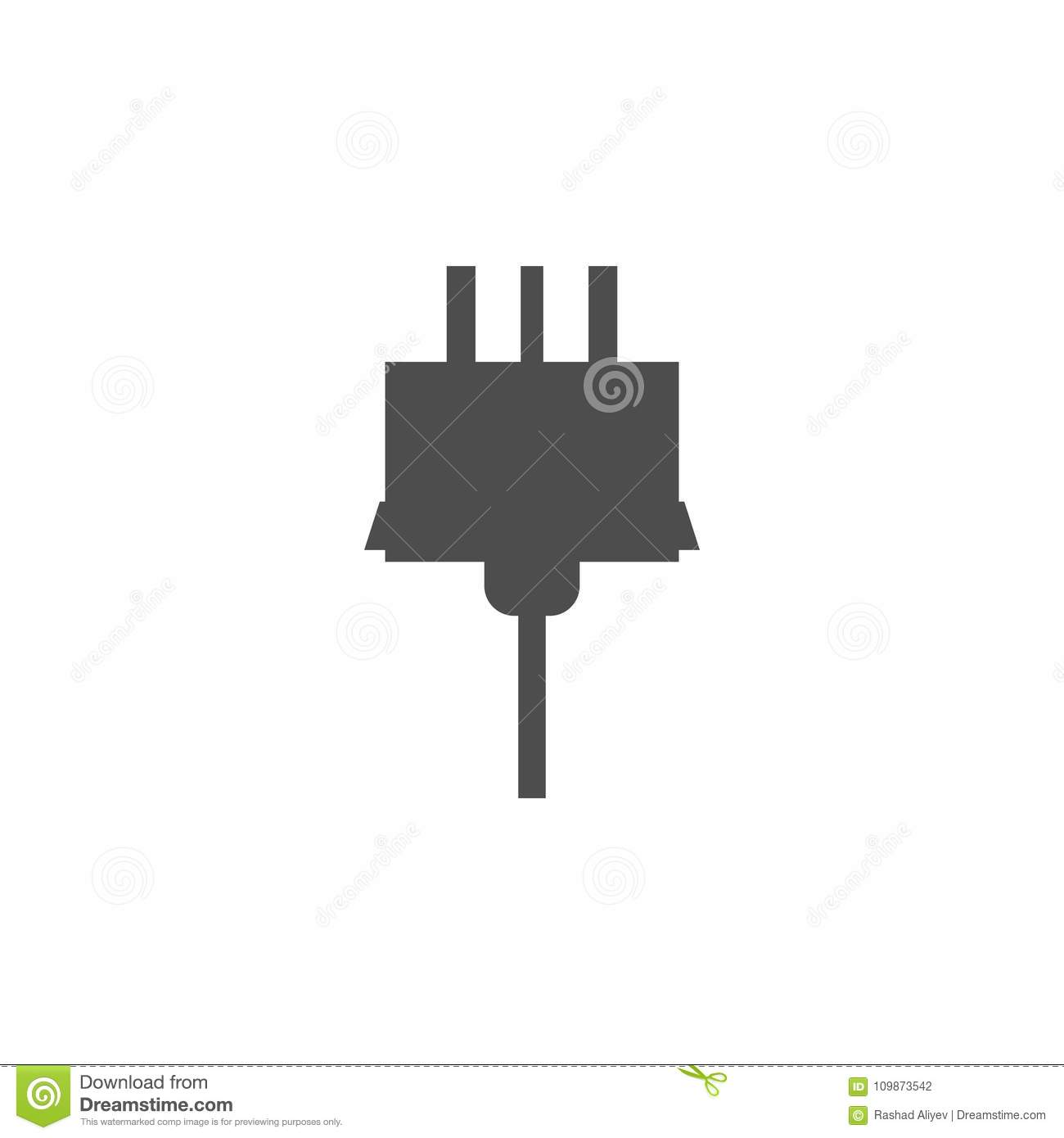Electrical Plug Icon  Elements Of Web Icon  Premium Quality Graphic