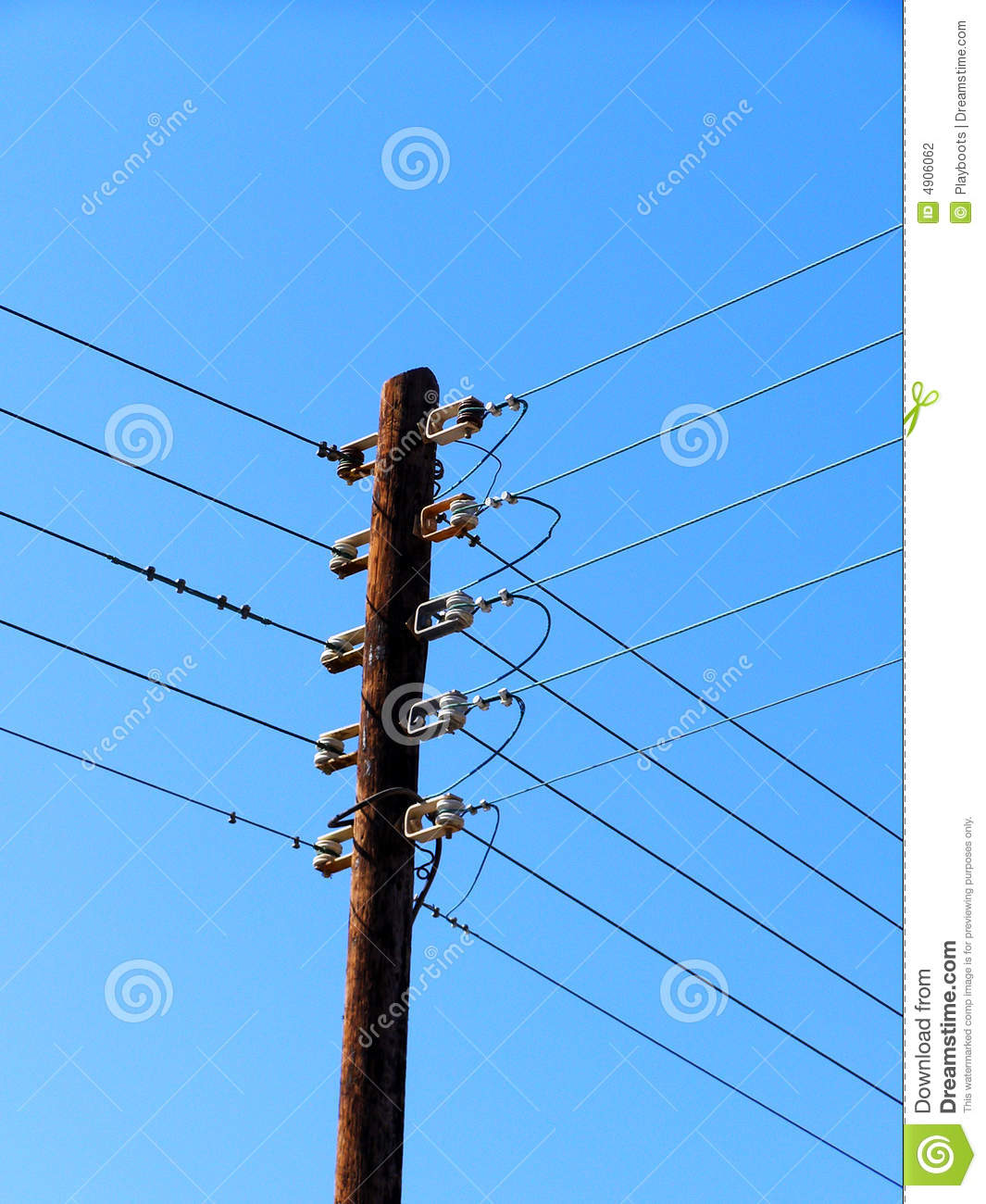 Electrical pole stock photo. Image of cables, tower, pile - 4906062