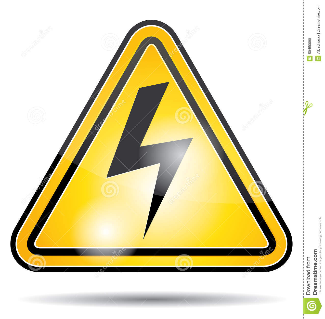 Electrical Power Danger Icon  Stock Vector - Illustration of