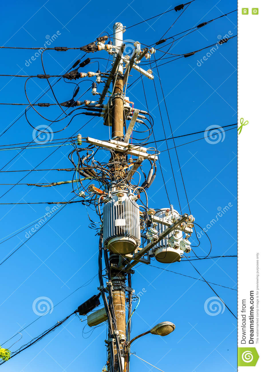 Electrical power line cables and transformers in Japan