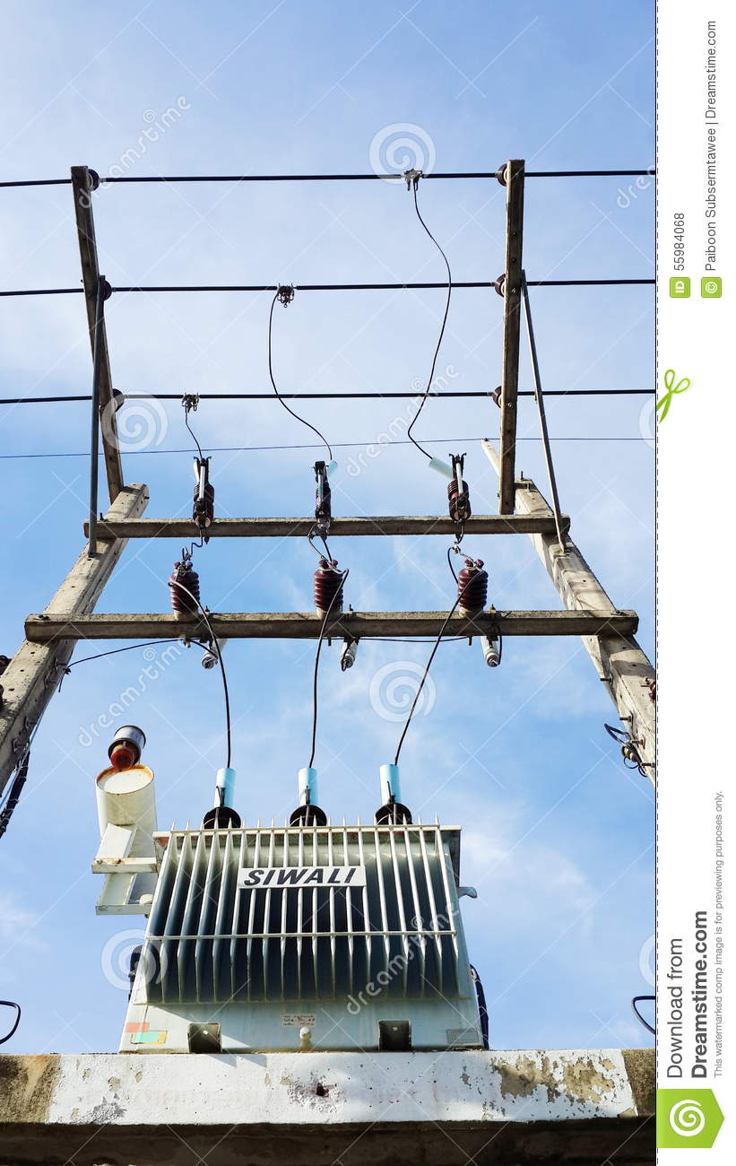 Electrical Power Transformer  Editorial Stock Photo - Image