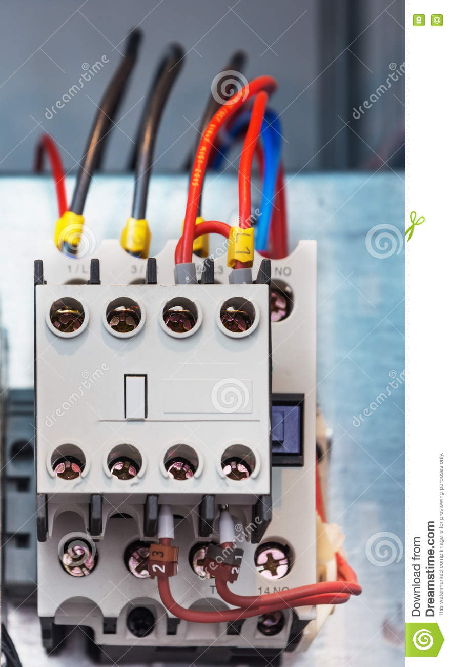 Electrical Protection Relays Stock Photo Image - Protection relays and circuit breakers