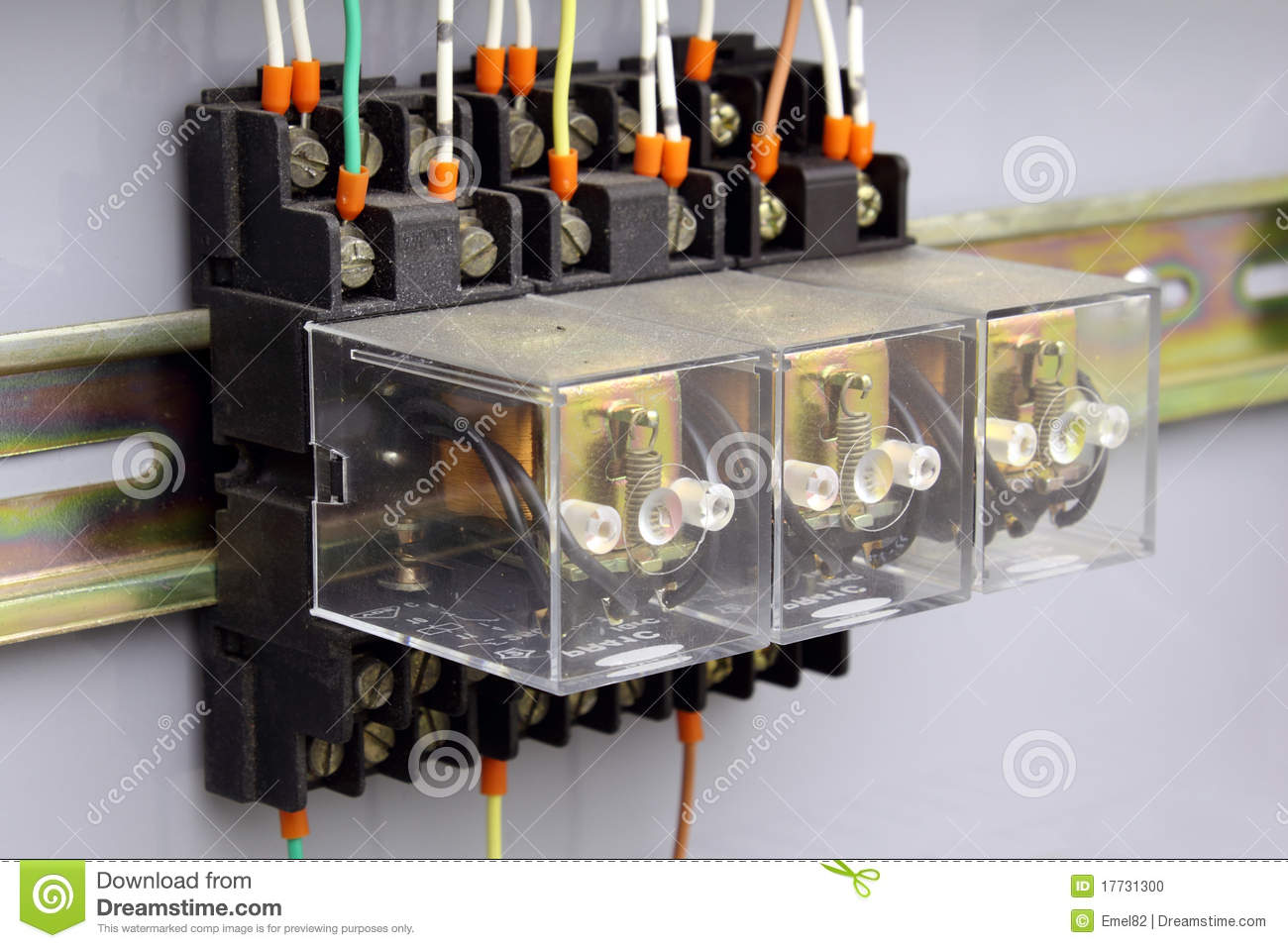 Electrical relays stock photo Image of electricity connection