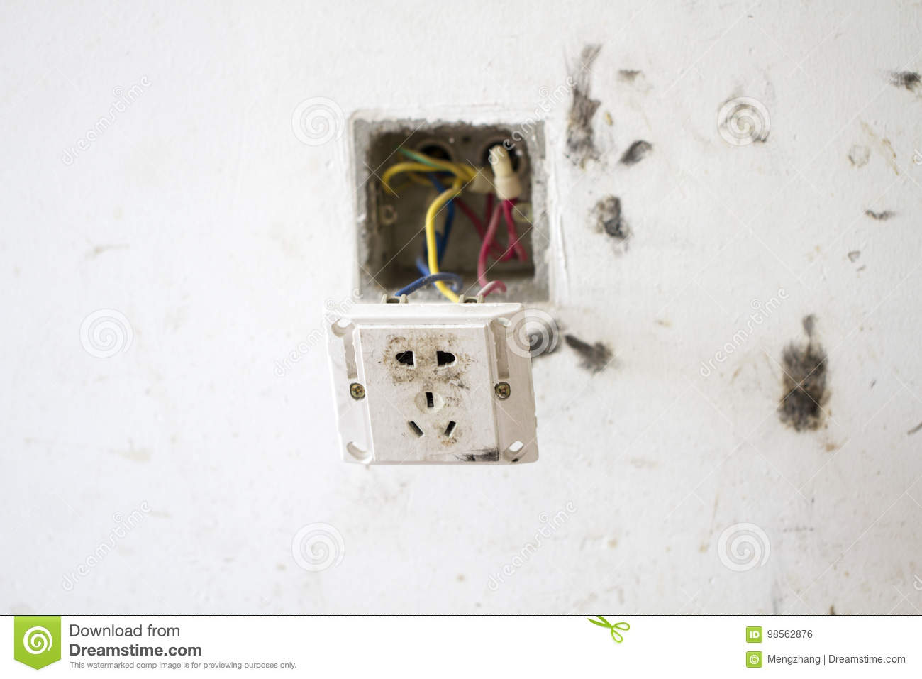 Electrical Renovation Work, Light Plug Stock Photo - Image of collar ...