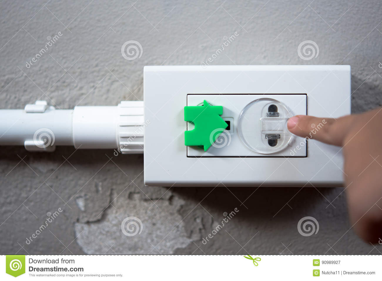 Electrical Security For Safety Home Of Ac Power Outlet For Babie ...
