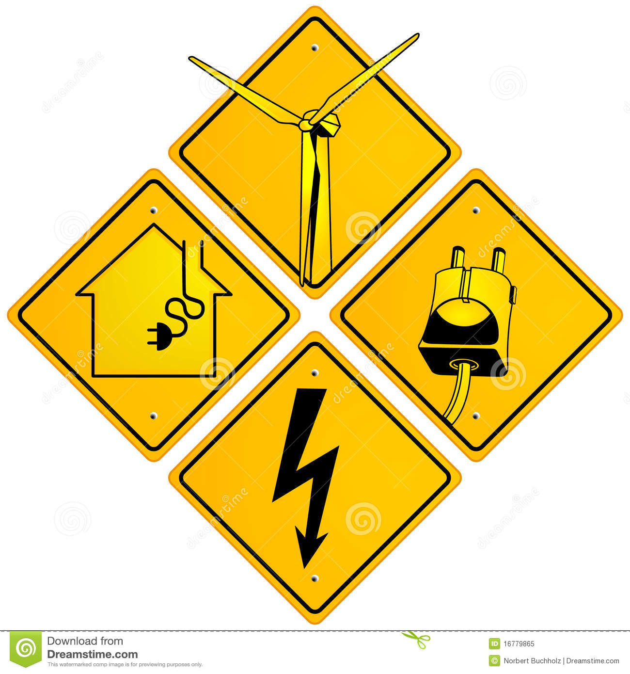 Electrical Sign Royalty Free Stock Photo - Image: 16779865