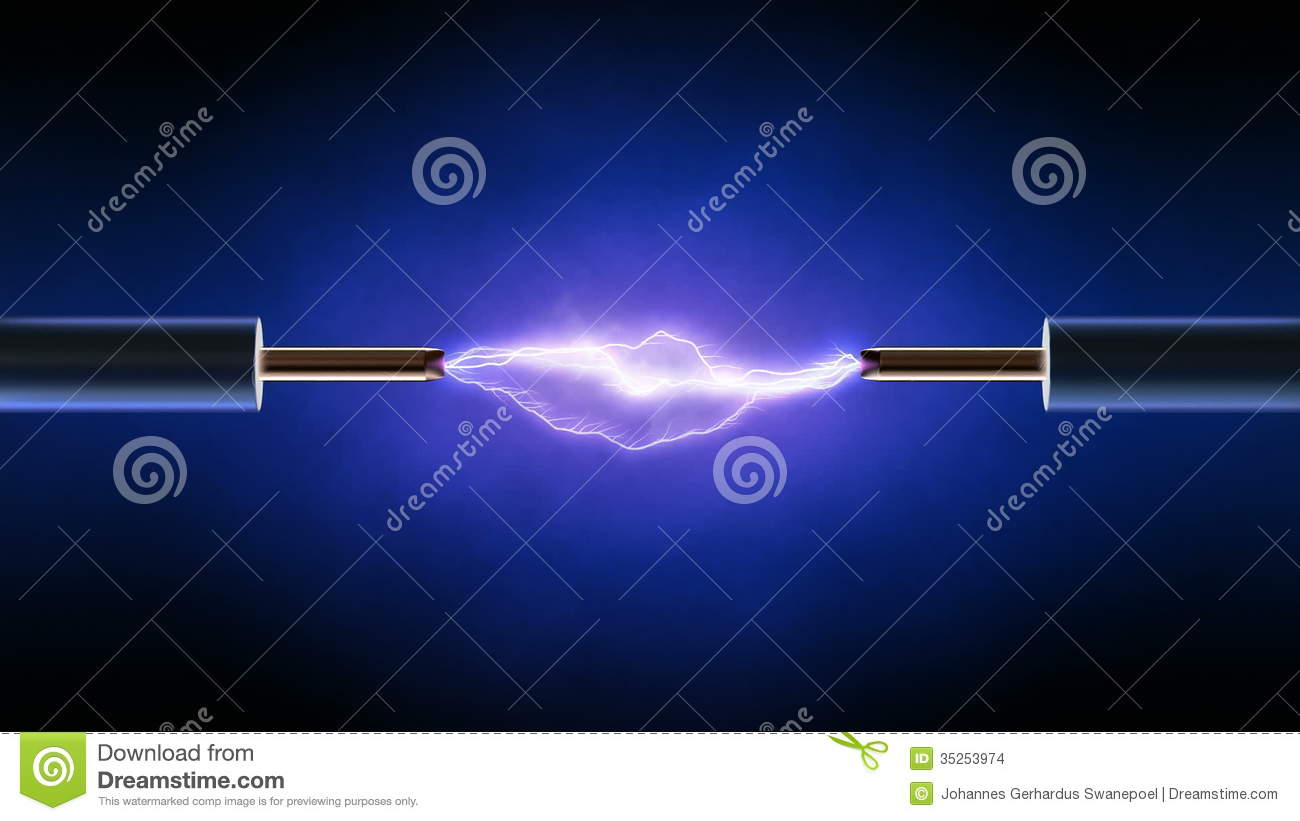 Electrical Spark Between Two Copper Wires - Looped Stock Video ...