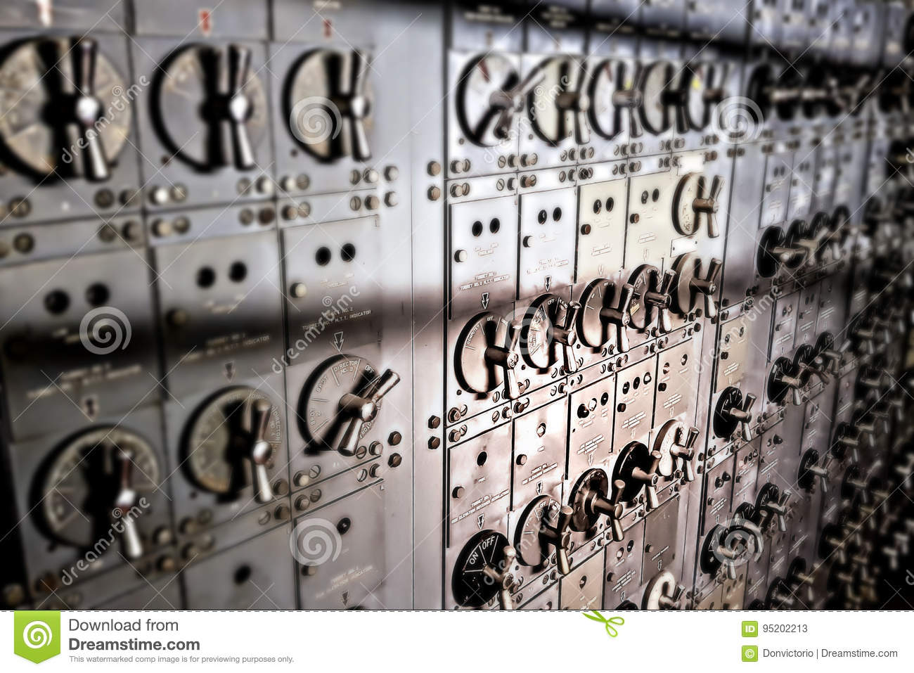 Electrical Switch Board Room Aboard Military Ship Stock Image ...