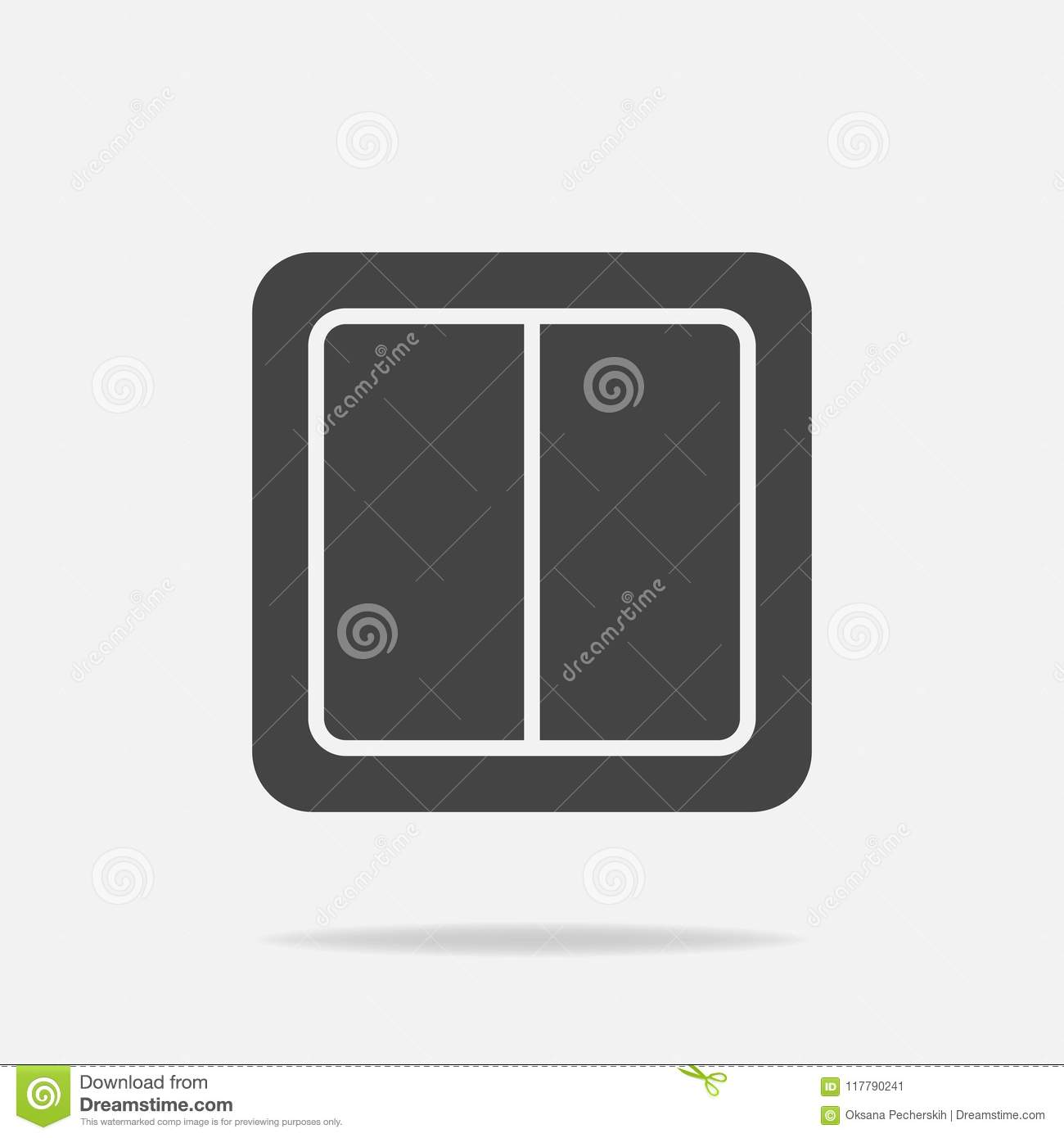 Electrical Switch Vector Icon. Light Switch Icon. Stock Vector ...