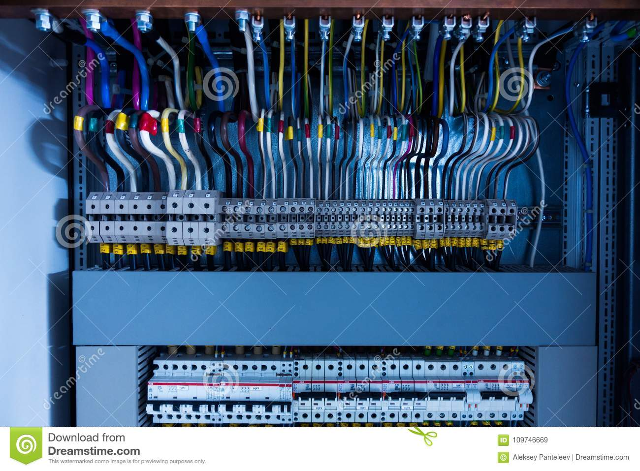 electrical switchboard, wire, automat stock image image of switchboard wiring diagram india switchboard wiring #23