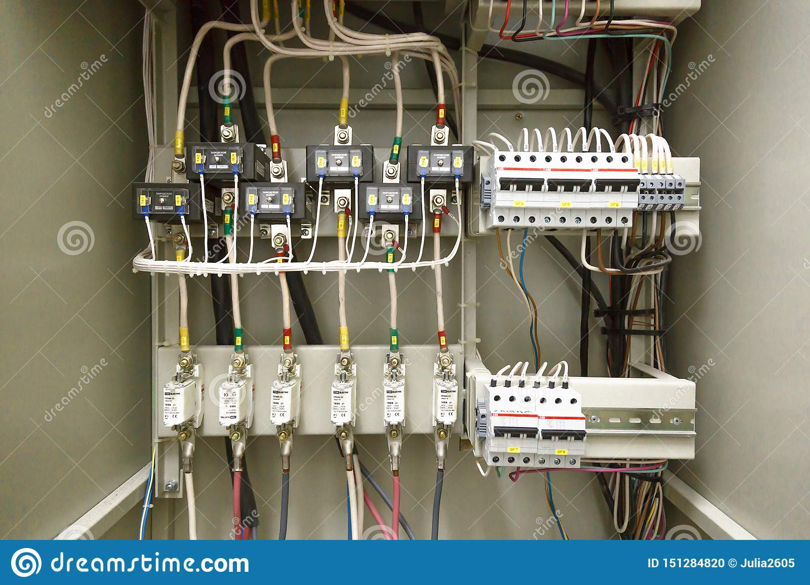 Electrical switchboard, wire, automat. electrical shield