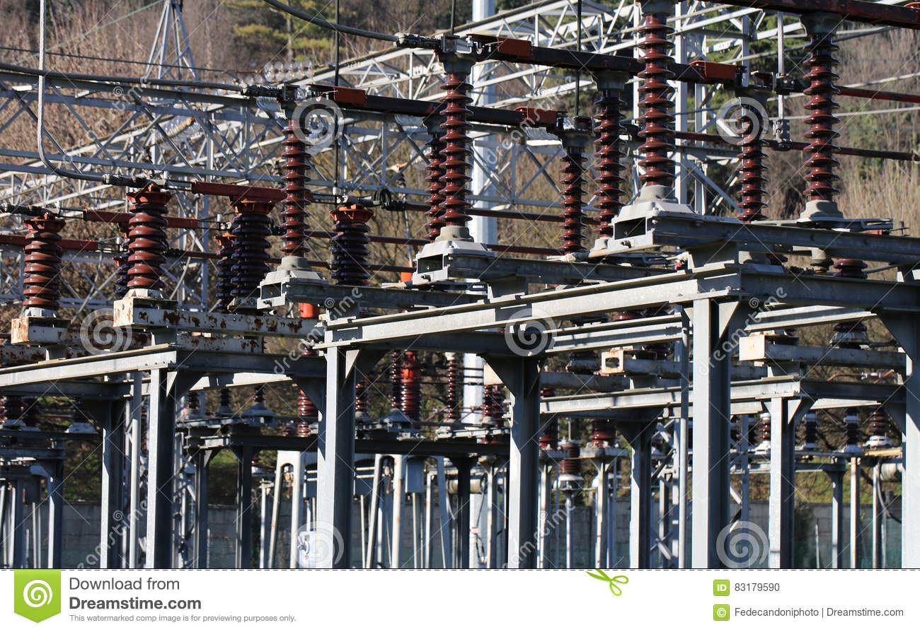 Electrical Switches And Devices In A Large Power Station Stock Photo ...
