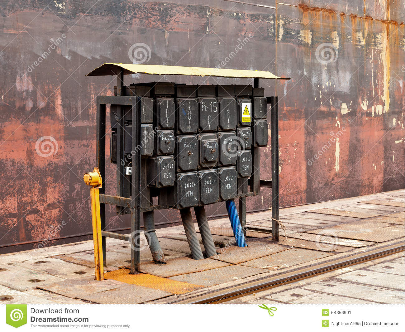 Electrical Switching Station Stock Image - Image of station ...