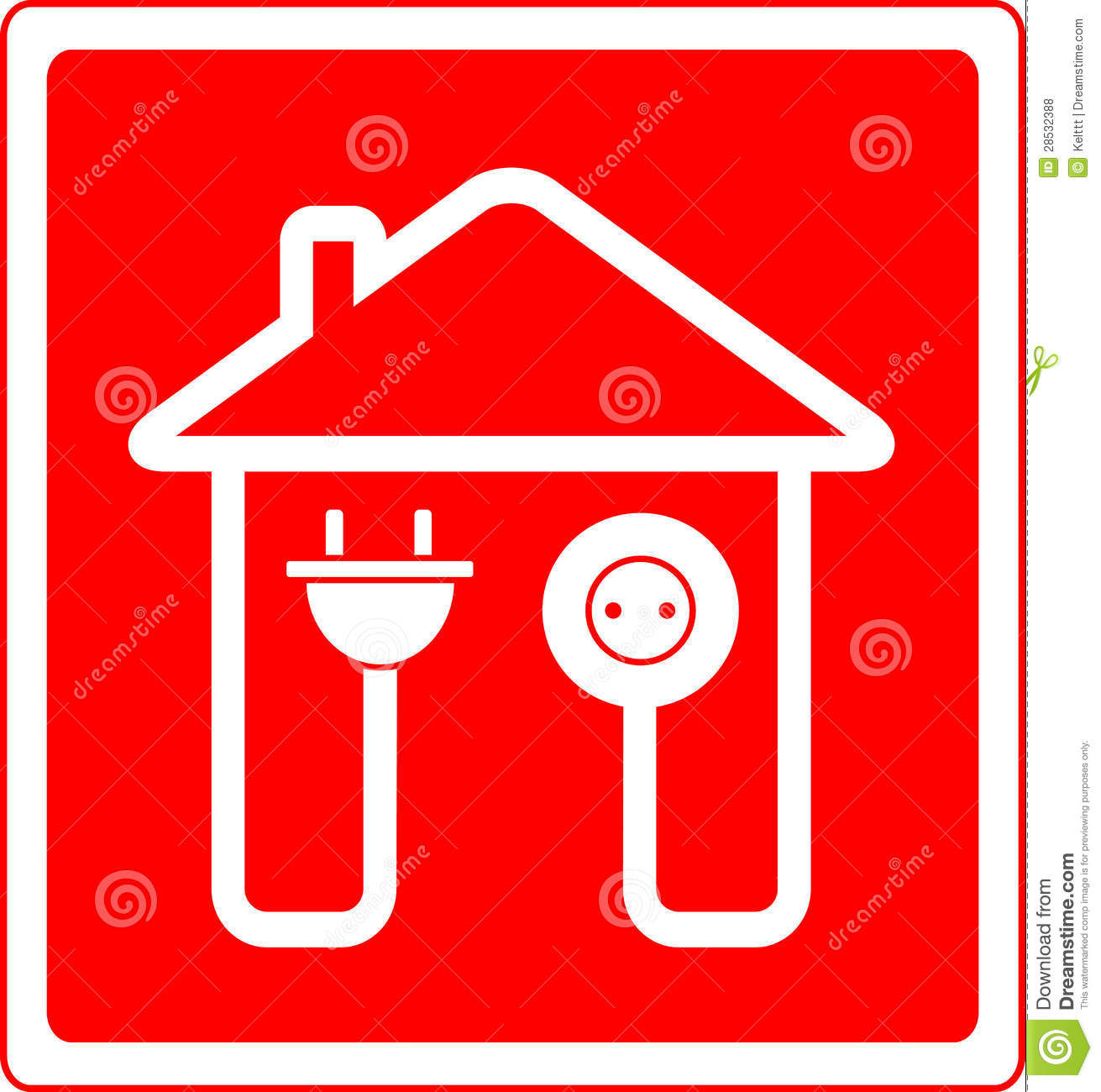 Electrical Symbol With Ac Outlet And Plug Stock Vector