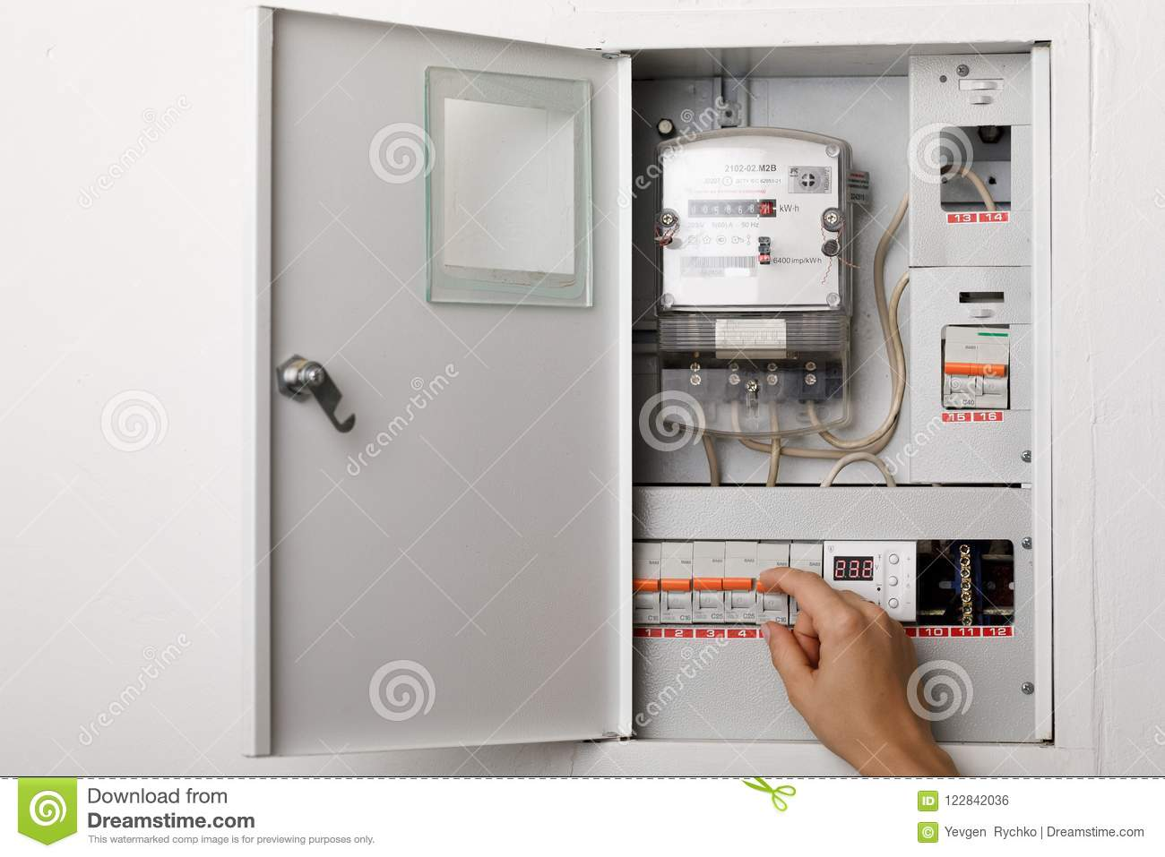 Electrical terminal box. stock photo. Image of electrical - 122842036
