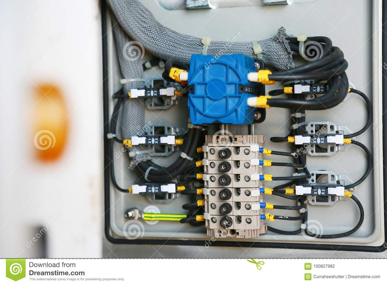 Electrical Terminal In Junction Box And Service By Technician ...